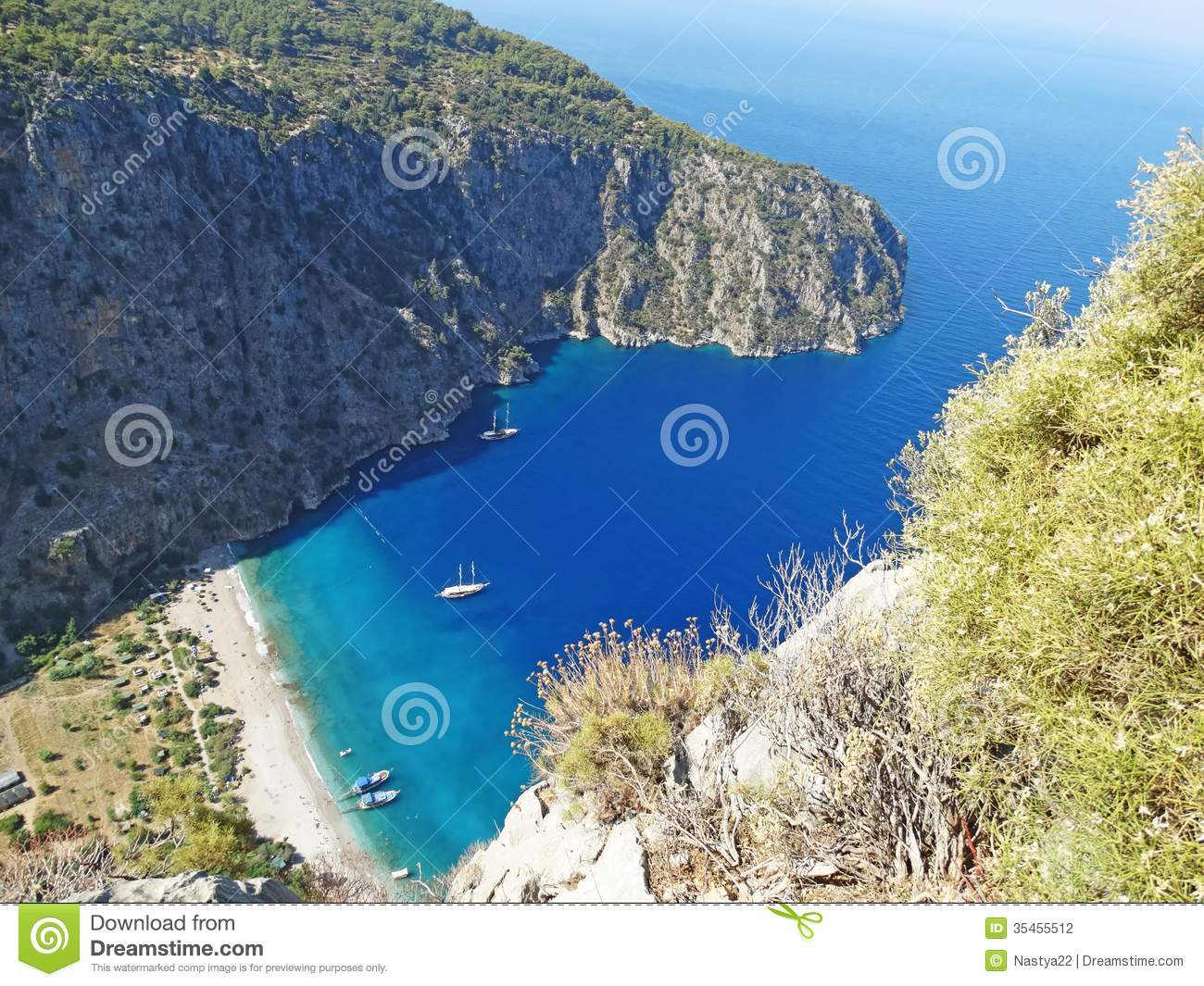Butterfly Valley Deep Gorge Fethiye Turkey Stock Photography - Image: 35455512