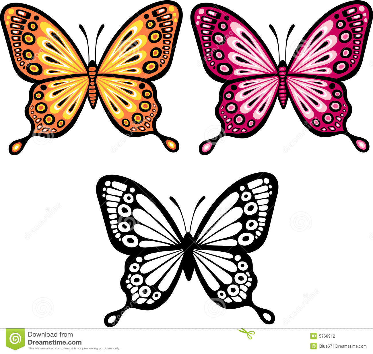 Butterfly Vector Illustration Stock Photography - Image: 5768912