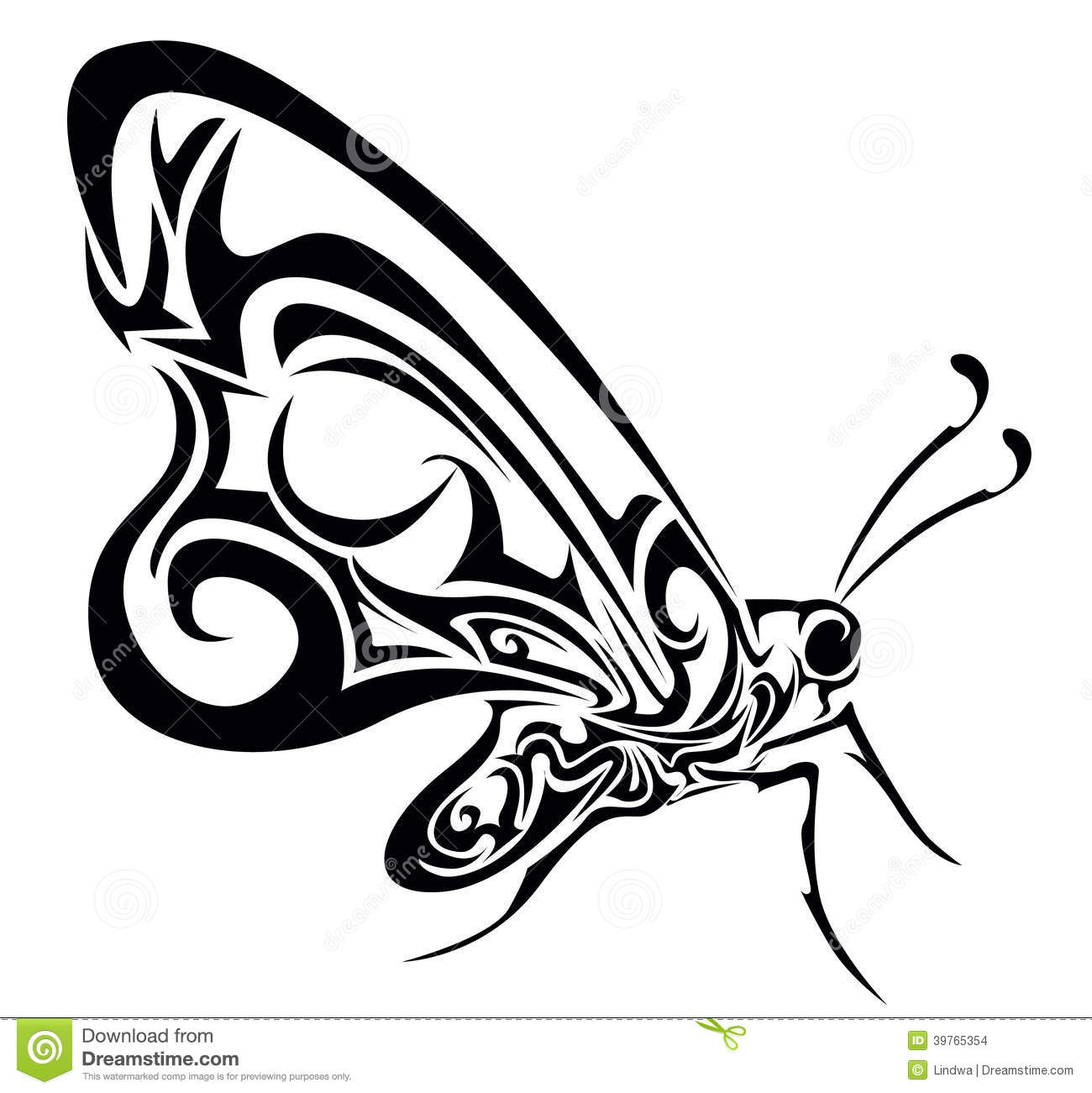 Butterfly Vector Illustration Stock Vector - Image: 39765354