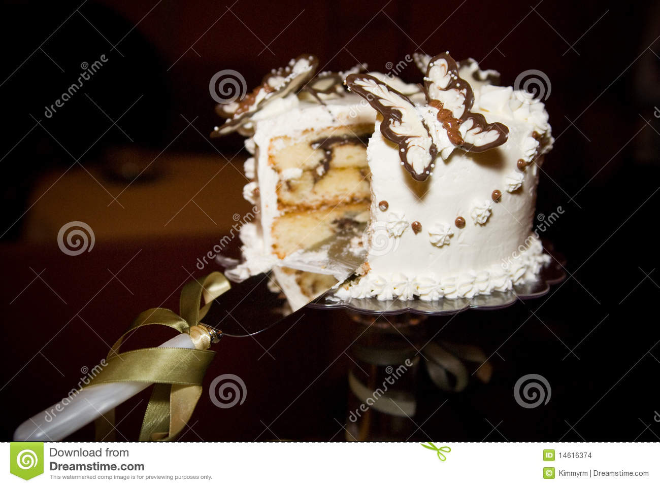 Butterfly Wedding Cake Stock Photo Image Of Chocolate