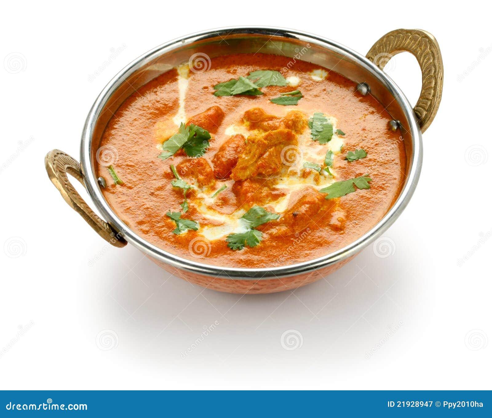 butterhuhn, indische küche lizenzfreie stockfotografie - bild