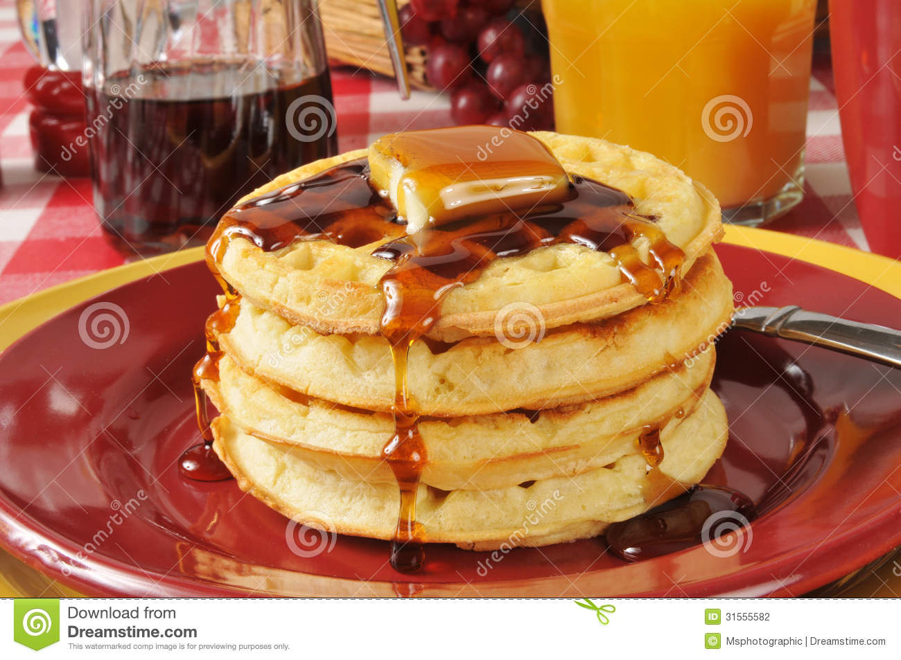 Buttermilk Waffles Stock Photography - Image: 31555582