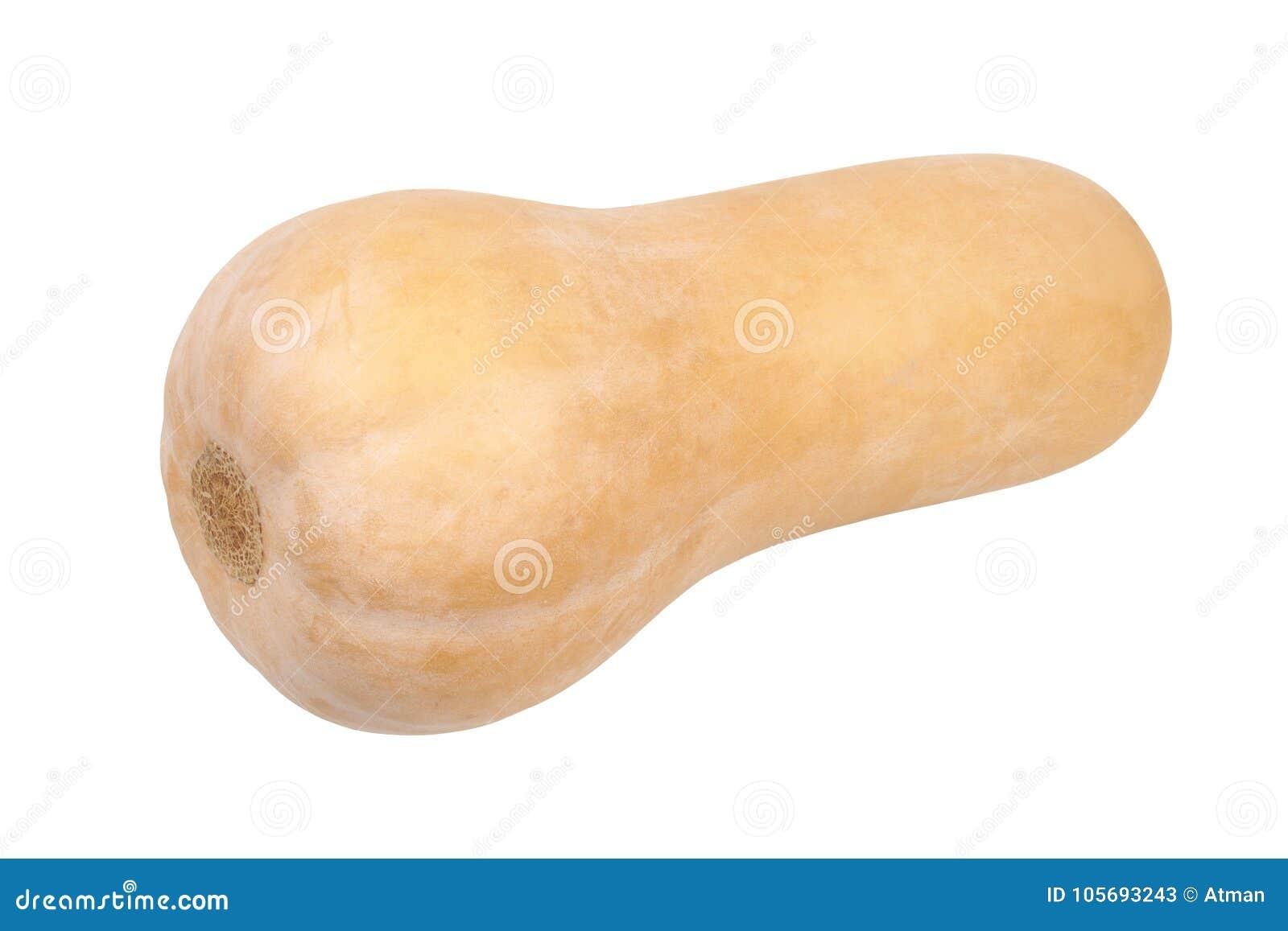 Butternutsquash på vit