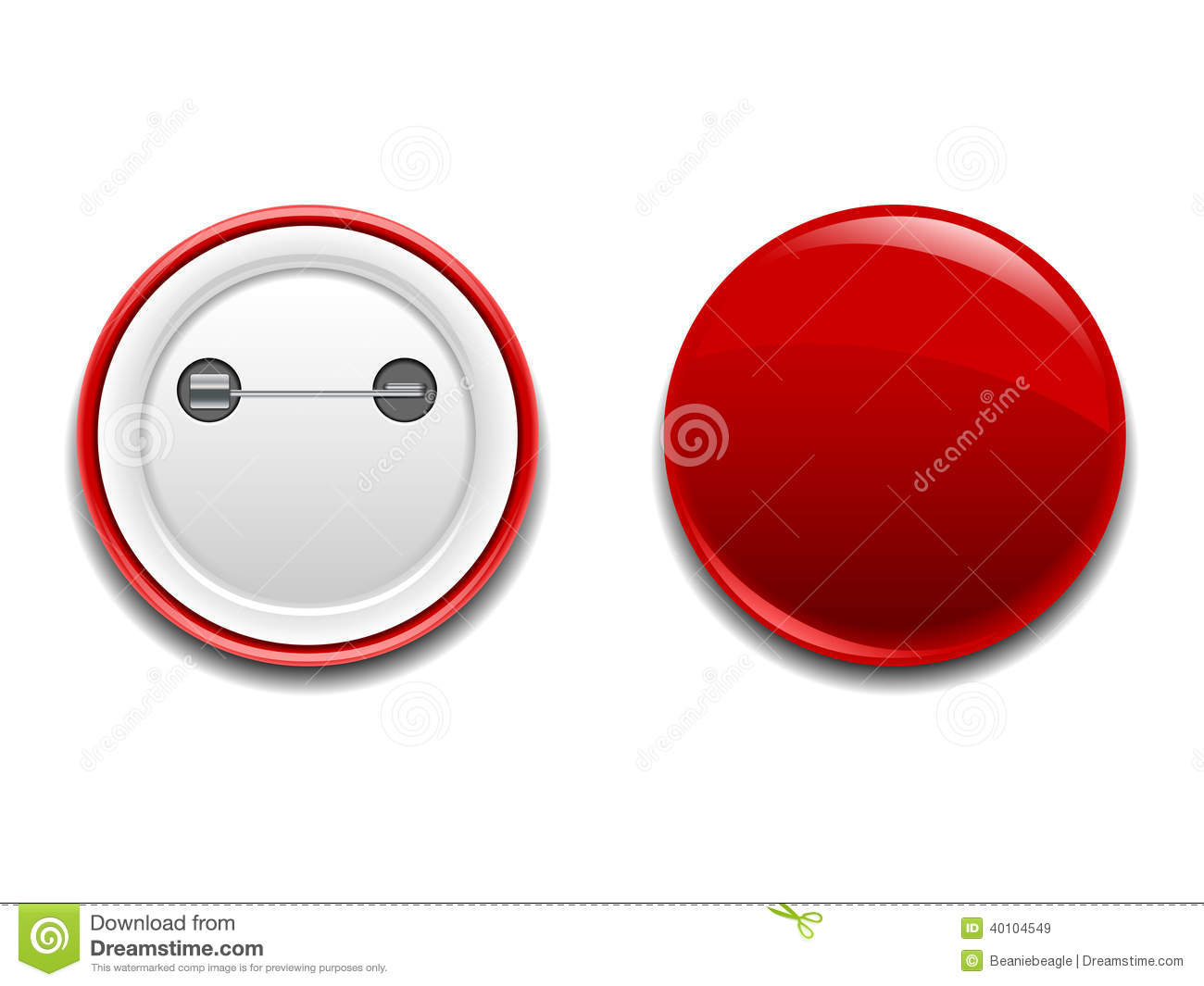 Button Badge Pin Icon Stock Vector - Image: 40104549