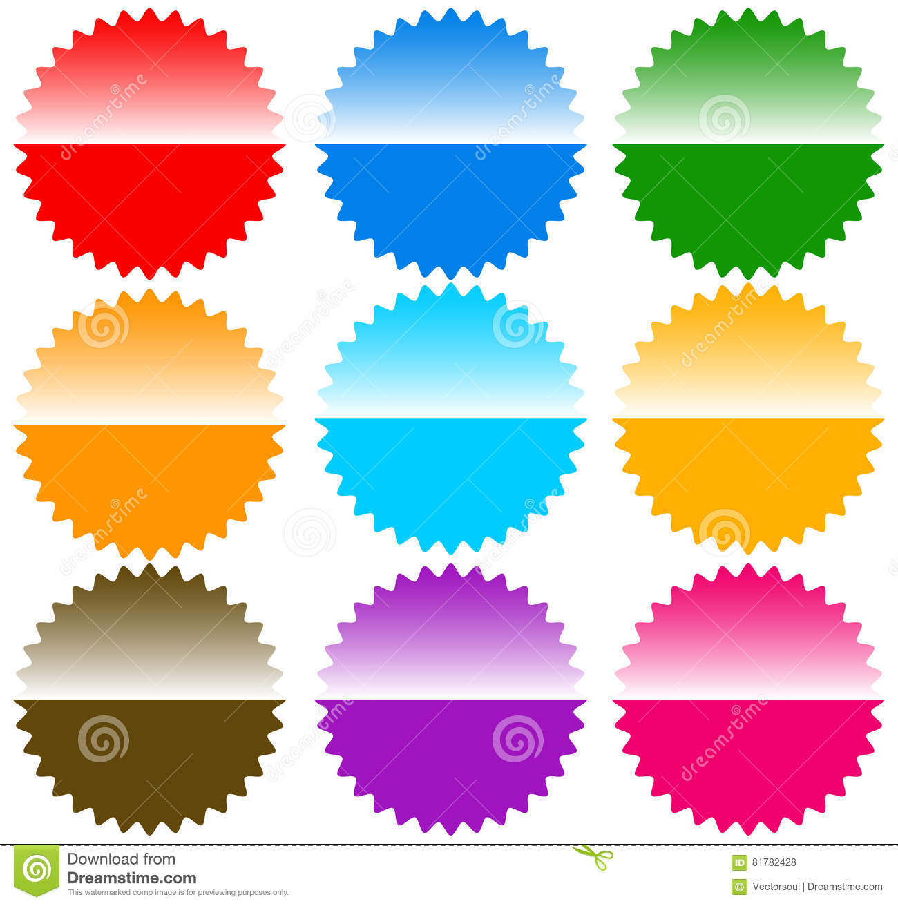 Button / Badge / Pin / Tag / Label Shapes, Elements Stock Vector