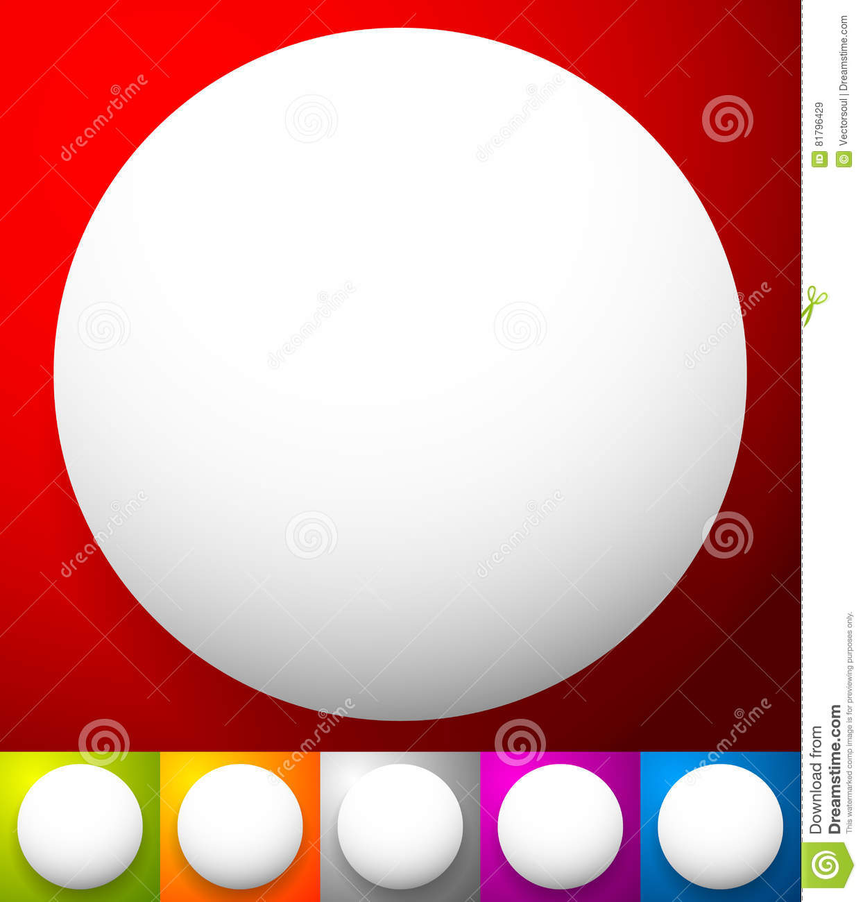 Button, Badge Shapes / Backgrounds In Several Colors Stock Vector
