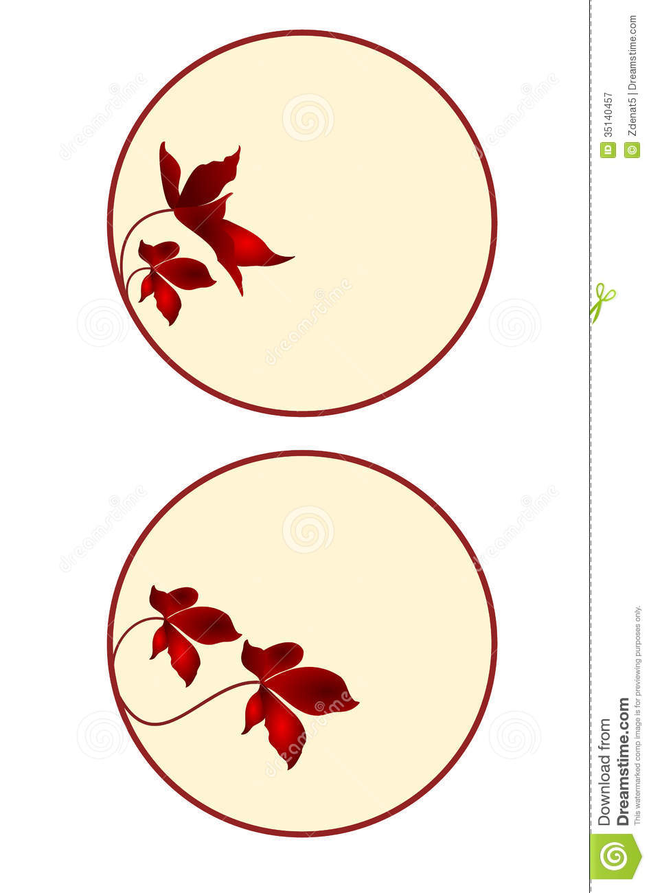 Button, Banner, Circle With Floral Set The Fourth Royalty Free ...