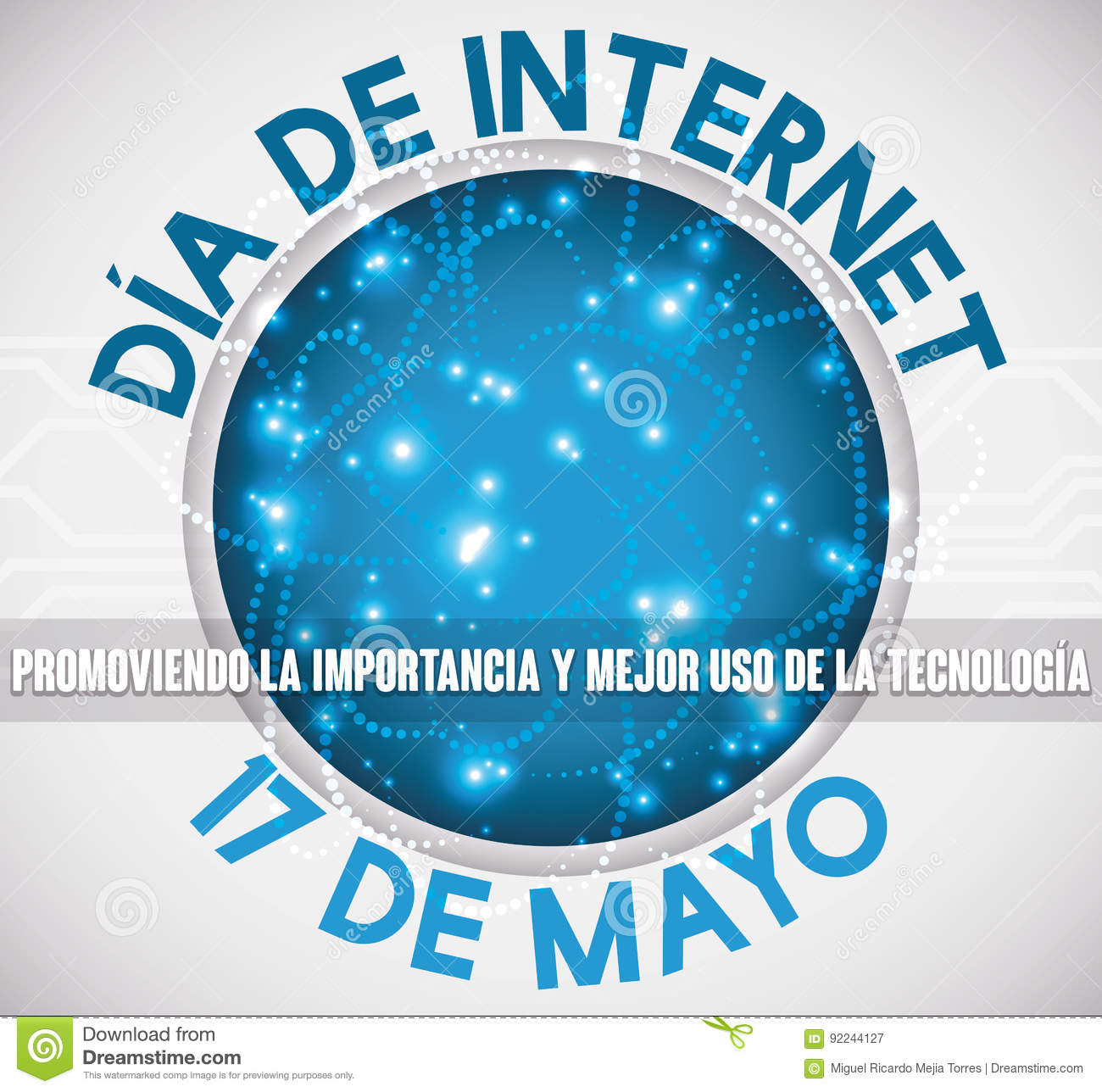 Button With Connections And Greeting In Spanish For Internet