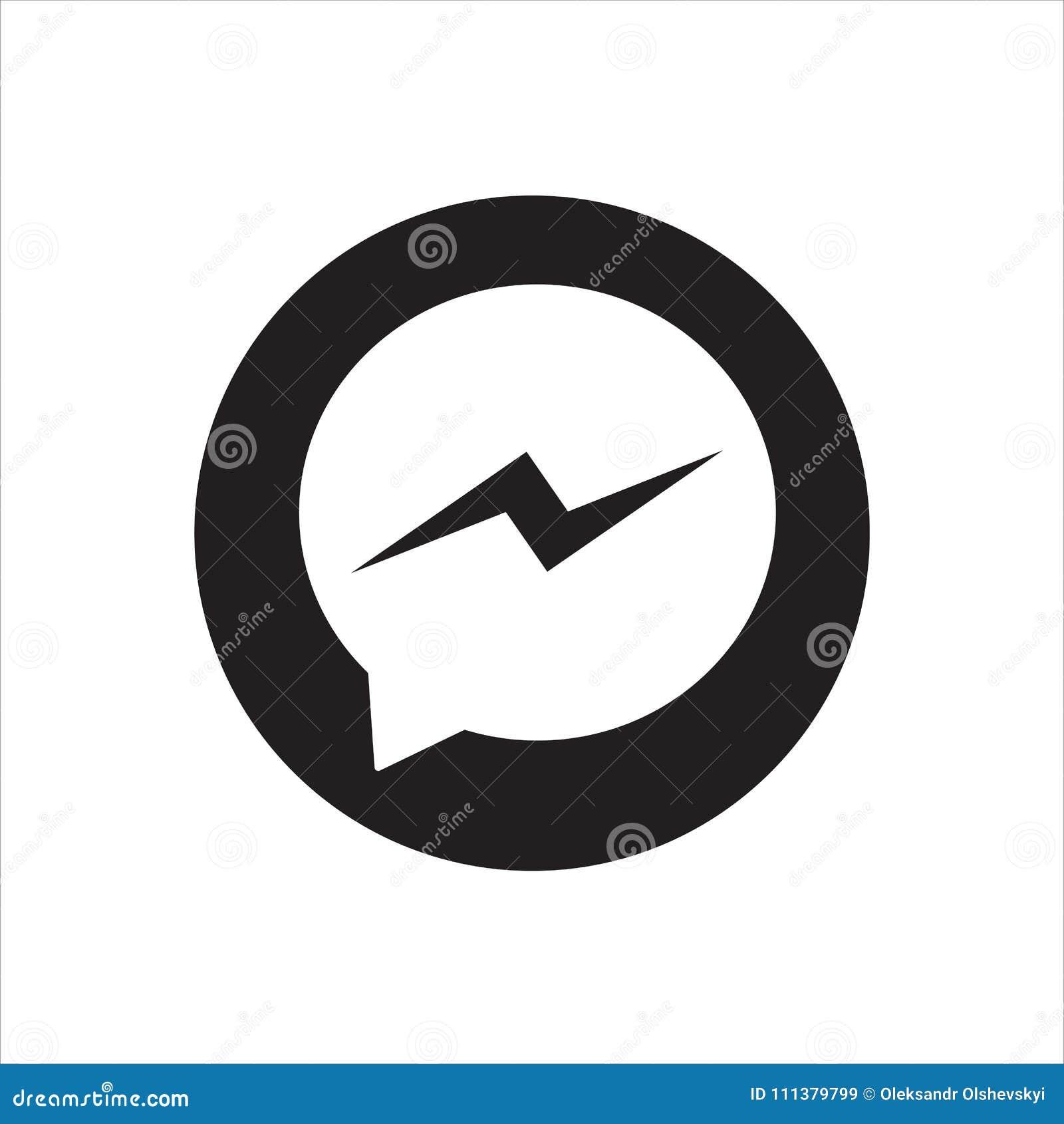 Button Facebook Messenger Icon Or Logo