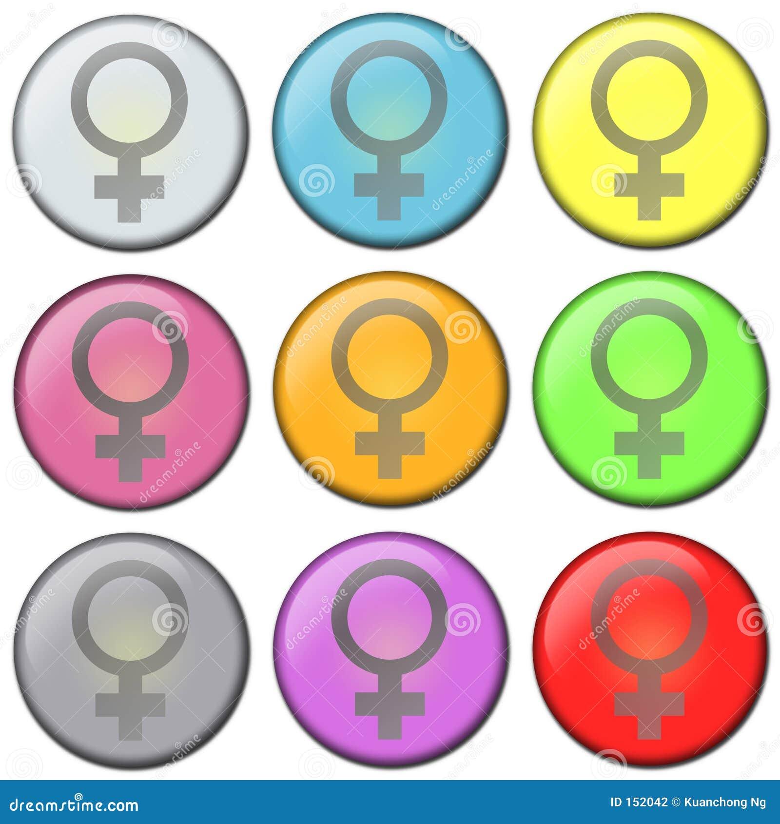Button - female