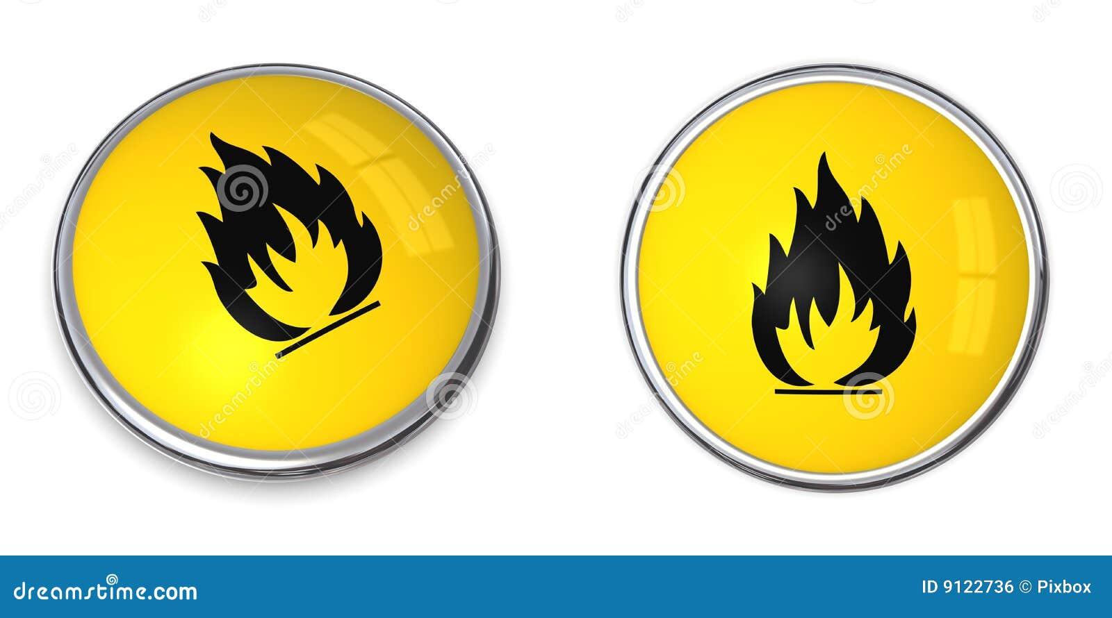 Button flammable symbol stock illustration illustration of button flammable symbol buycottarizona