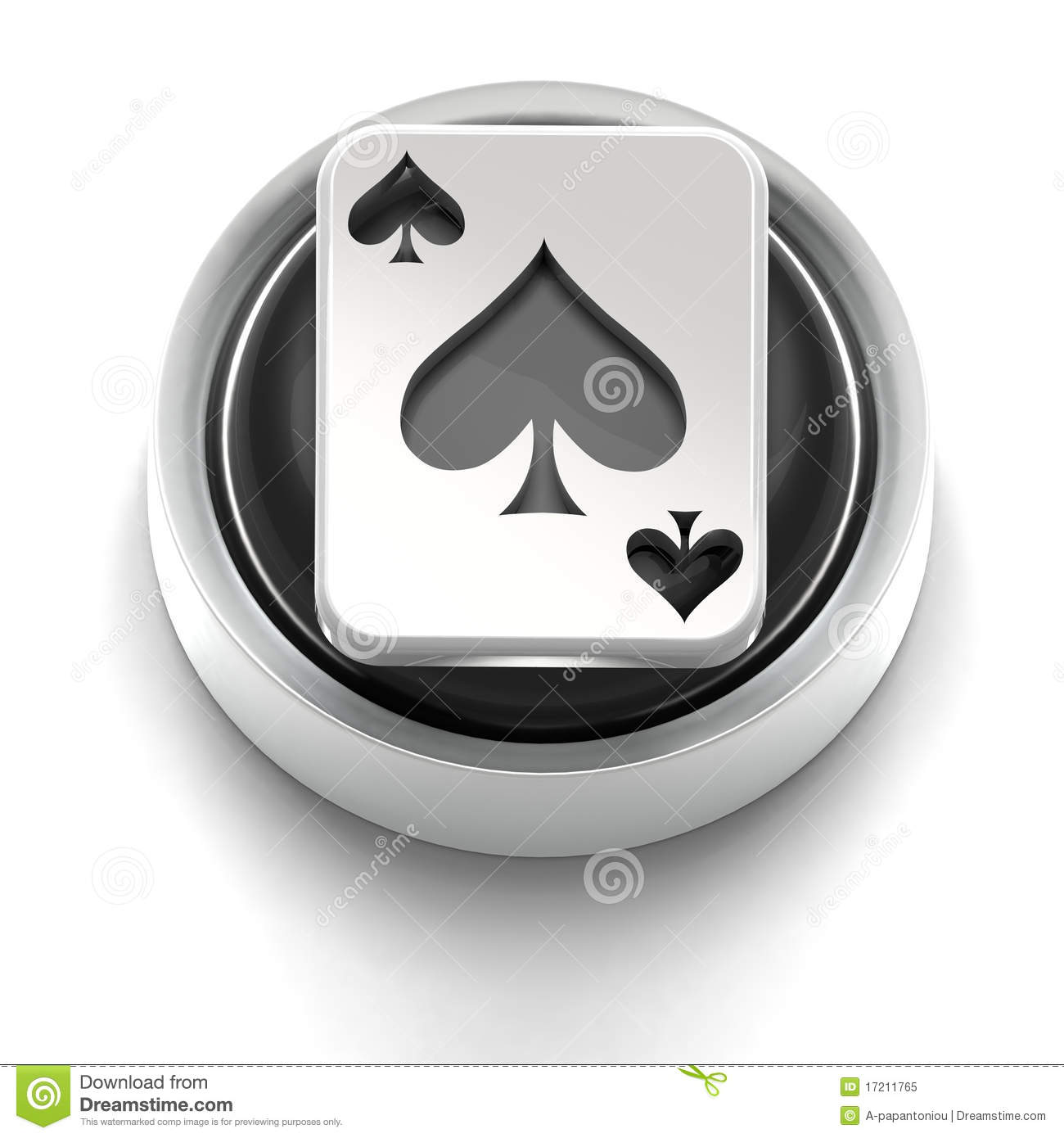 Button Icon Ace Of Spades Stock Illustration Illustration Of