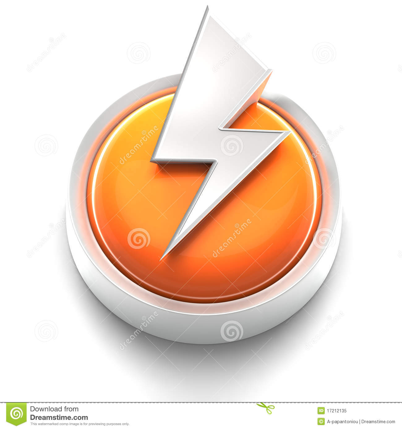 button icon lightning bolt royalty free stock photo