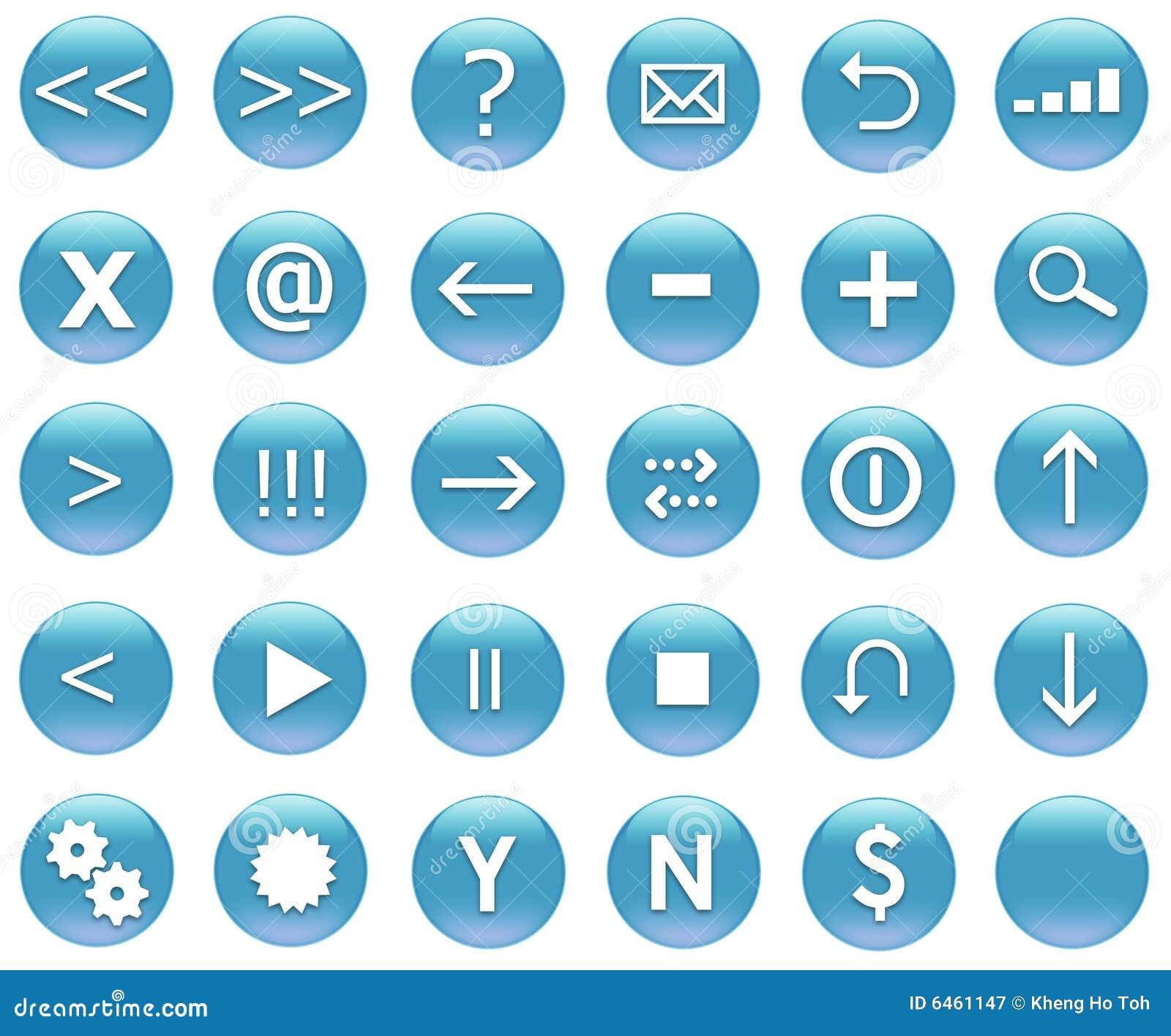 Button ikony zestaw nawigacji