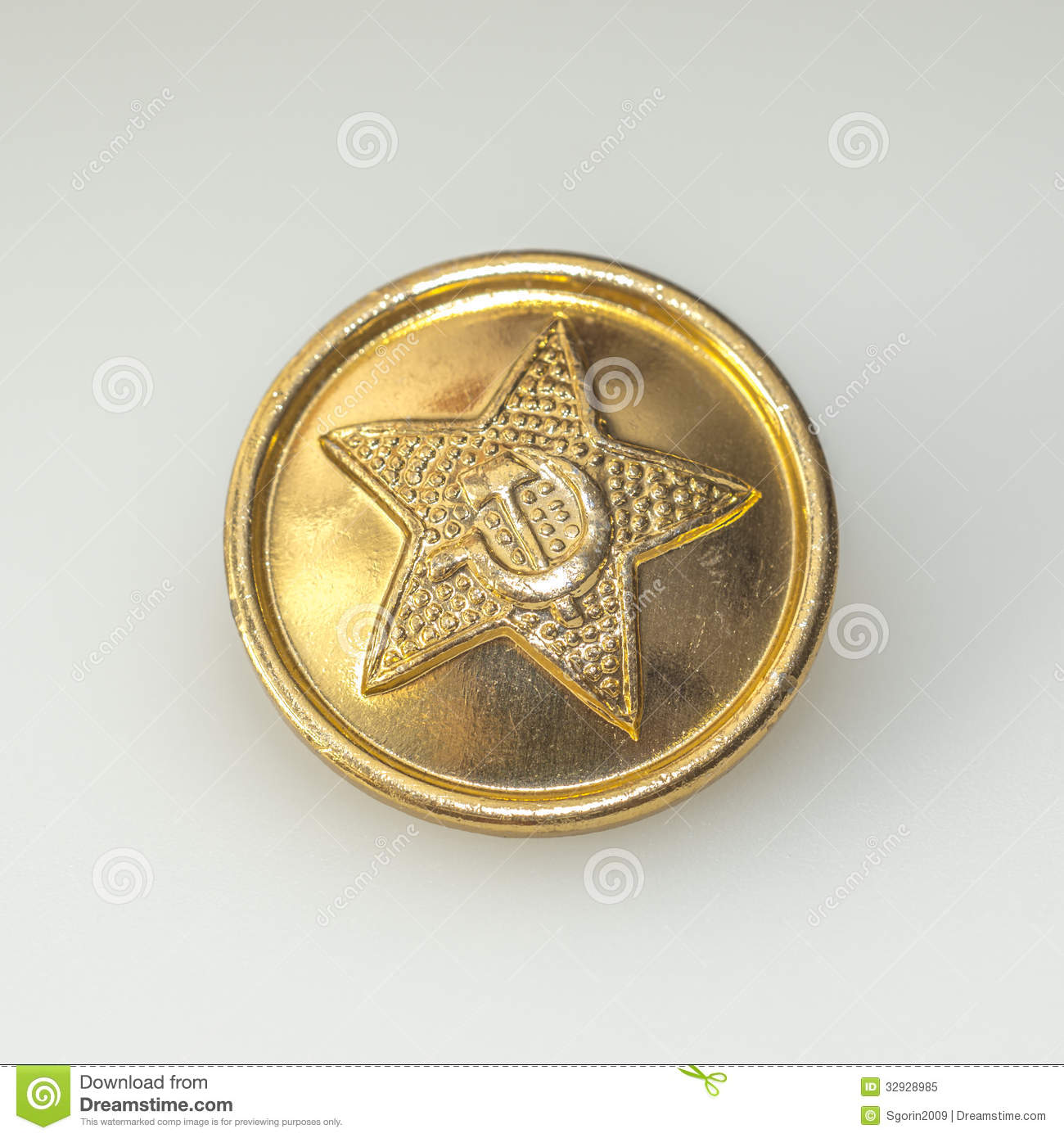 ... button from military uniforms of Soviet army, with the soviet symbols