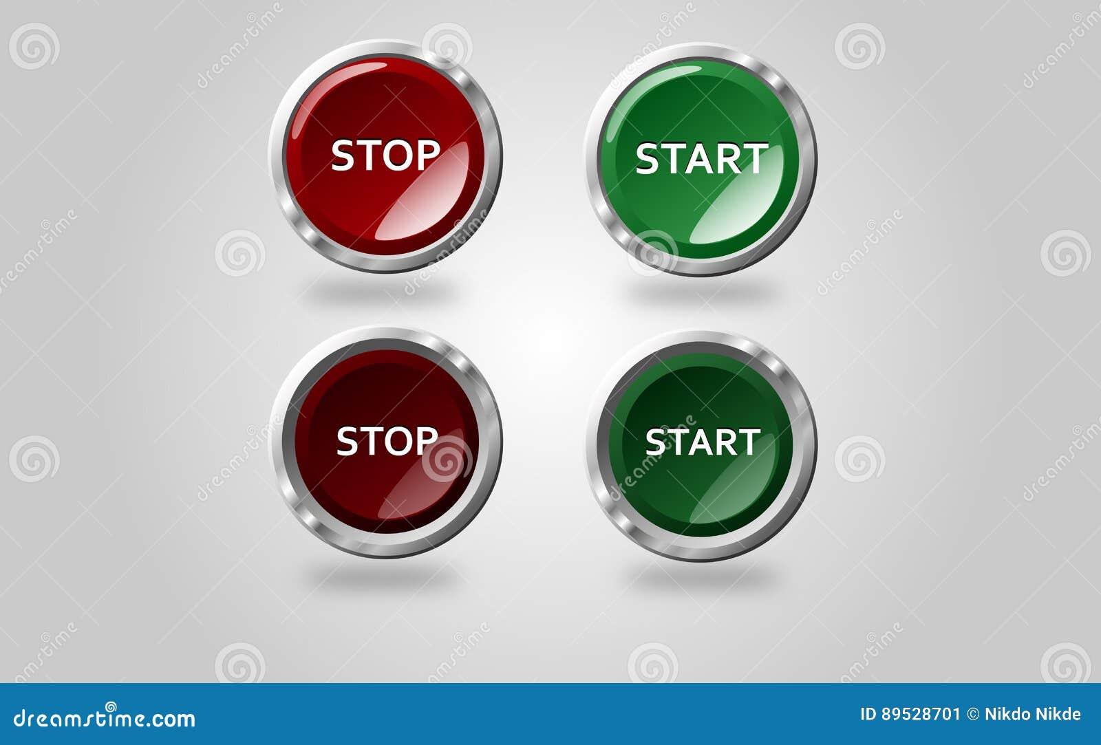 button stop start stock image 89528701. Black Bedroom Furniture Sets. Home Design Ideas