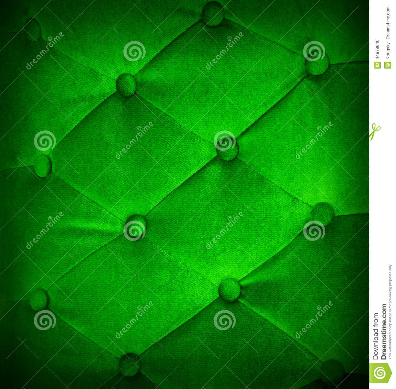 Buttoned On Green Light Texture Sofa Repeat Background