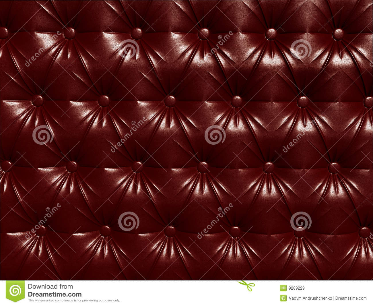 Tileable Wallpaper Repeats Left Right Up And Down Buttoned Red Leather Background Pattern Royalty Free Stock Images
