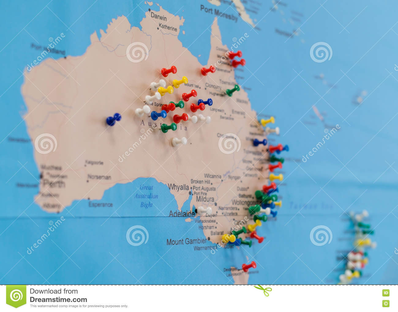 Buttons on australia on the world map stock image image of button buttons on australia on the world map gumiabroncs Images