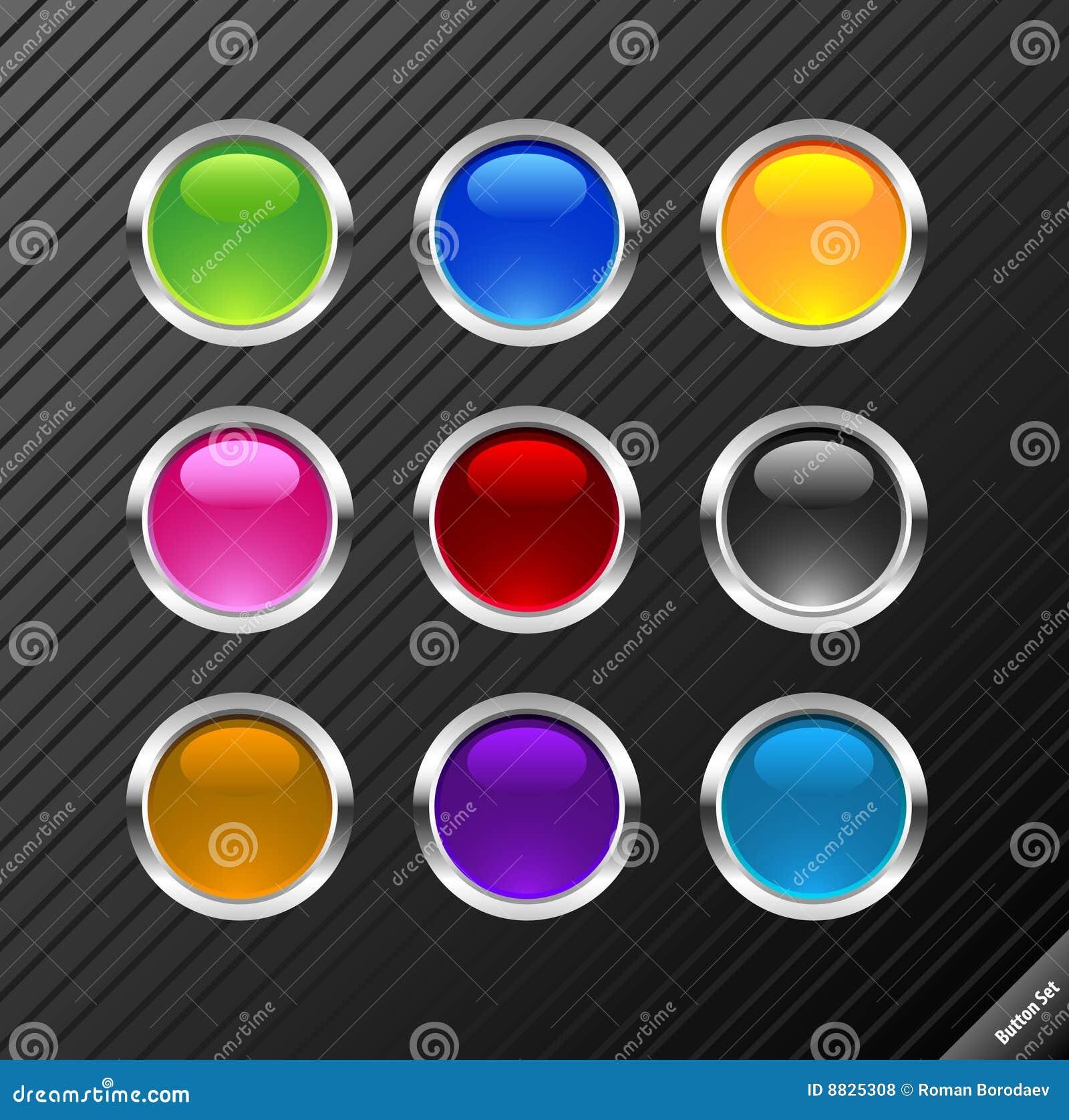 Buttons den glansiga rounden