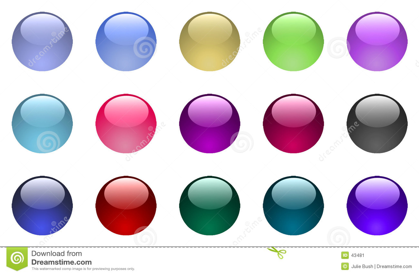 Buttons exponeringsglas stort