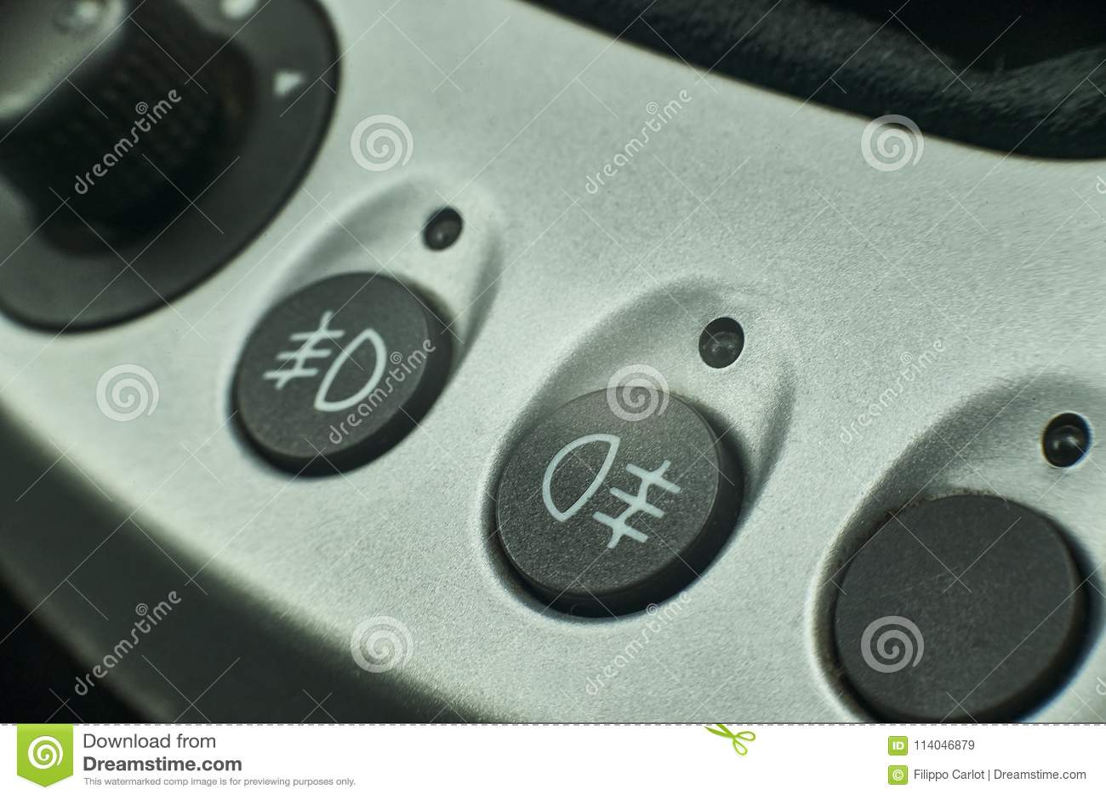 Fog Lights Symbol Of A Car Stock Image Image Of Headlights 114046879