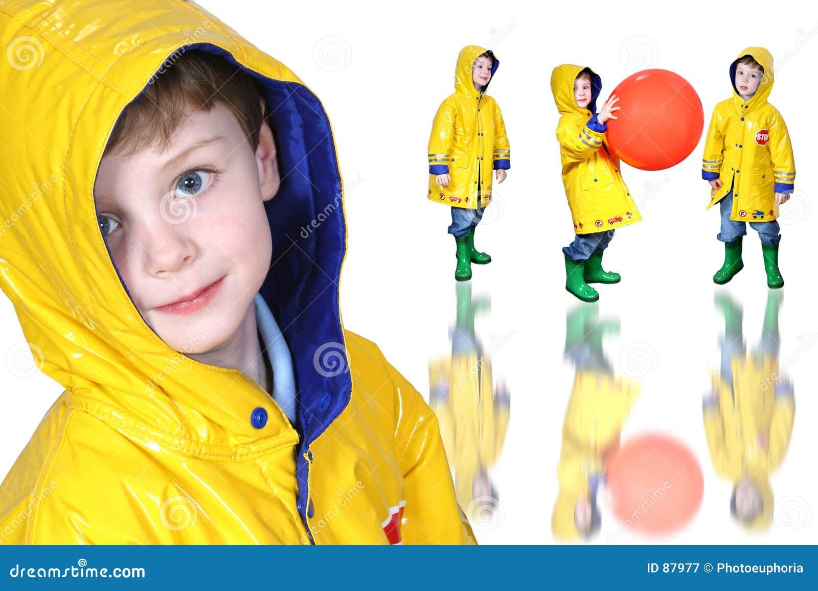 Buty chłopcy kolaż deszczowej żabka żółty