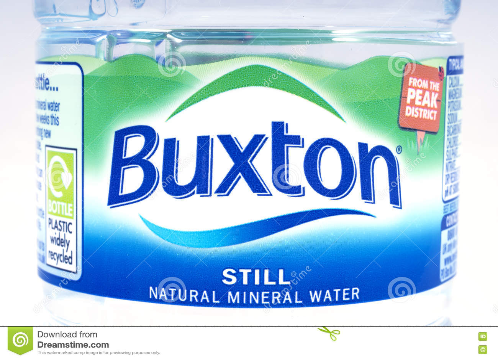 Buxton Still Natural Spring Water Editorial Photo Image