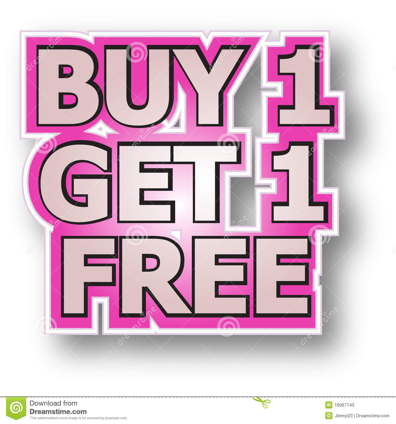 Buy: Buy 1 Get 1 Free Stock Vector. Illustration Of Promotions