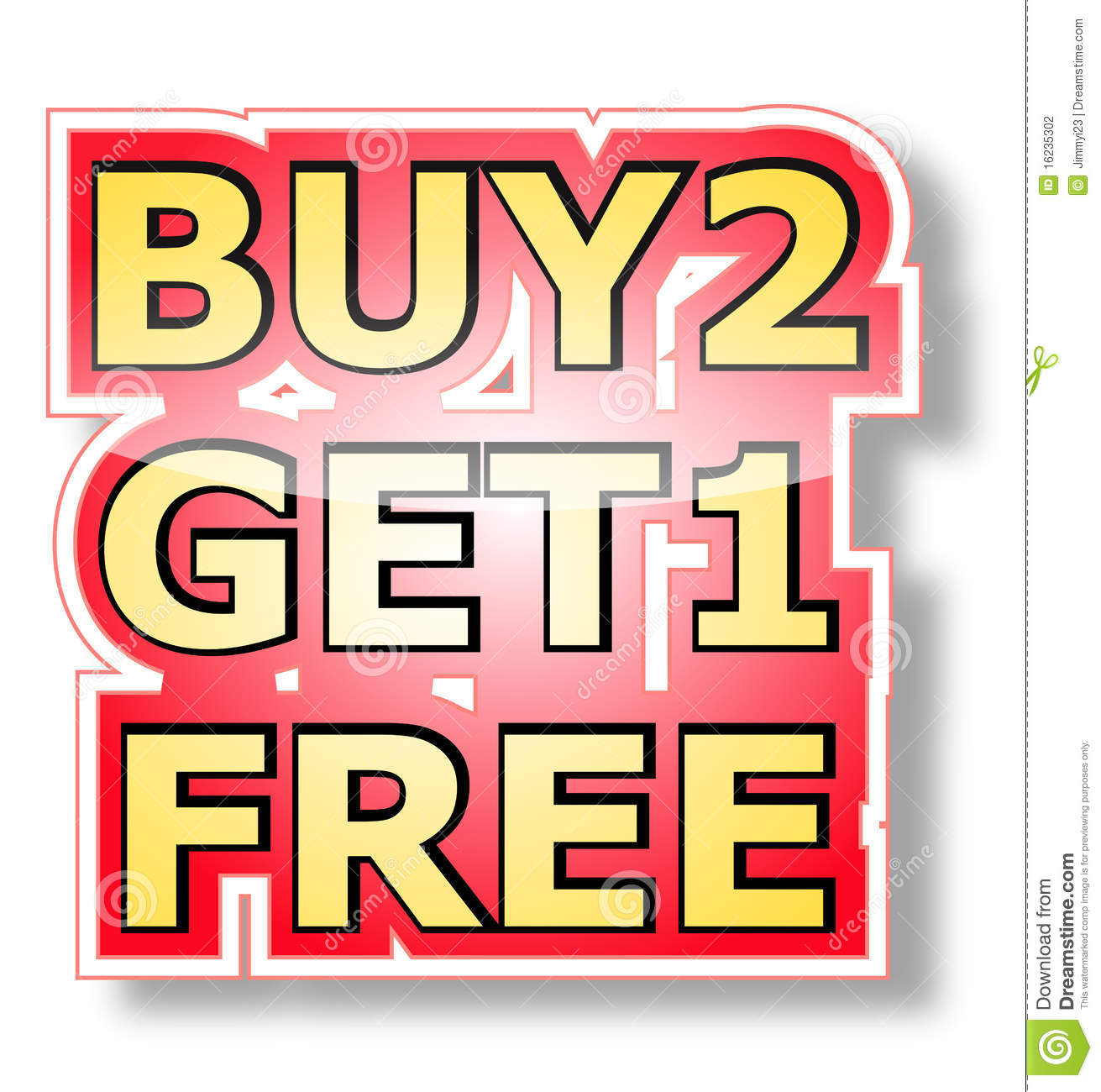 Buy: Buy 2 Get 1 Free Stock Vector. Illustration Of Free, Point