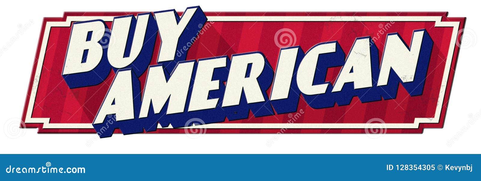 Buy American Tin Sign Retro Vintage Look