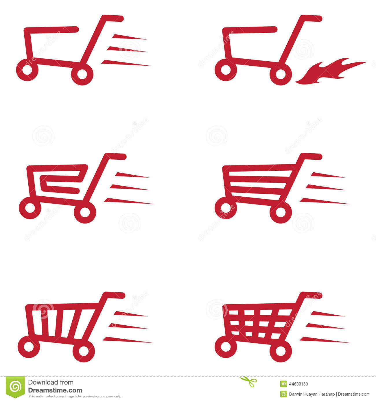Buy Cart Set Stock Vector - Image: 44603169