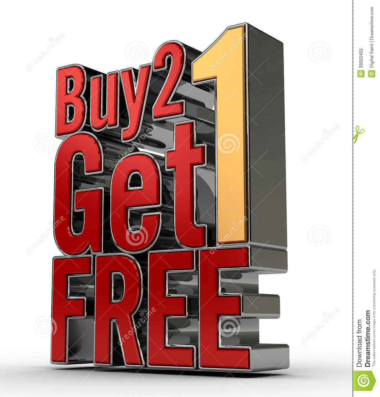 Buy: Buy 2 Get 1 FREE Stock Illustration