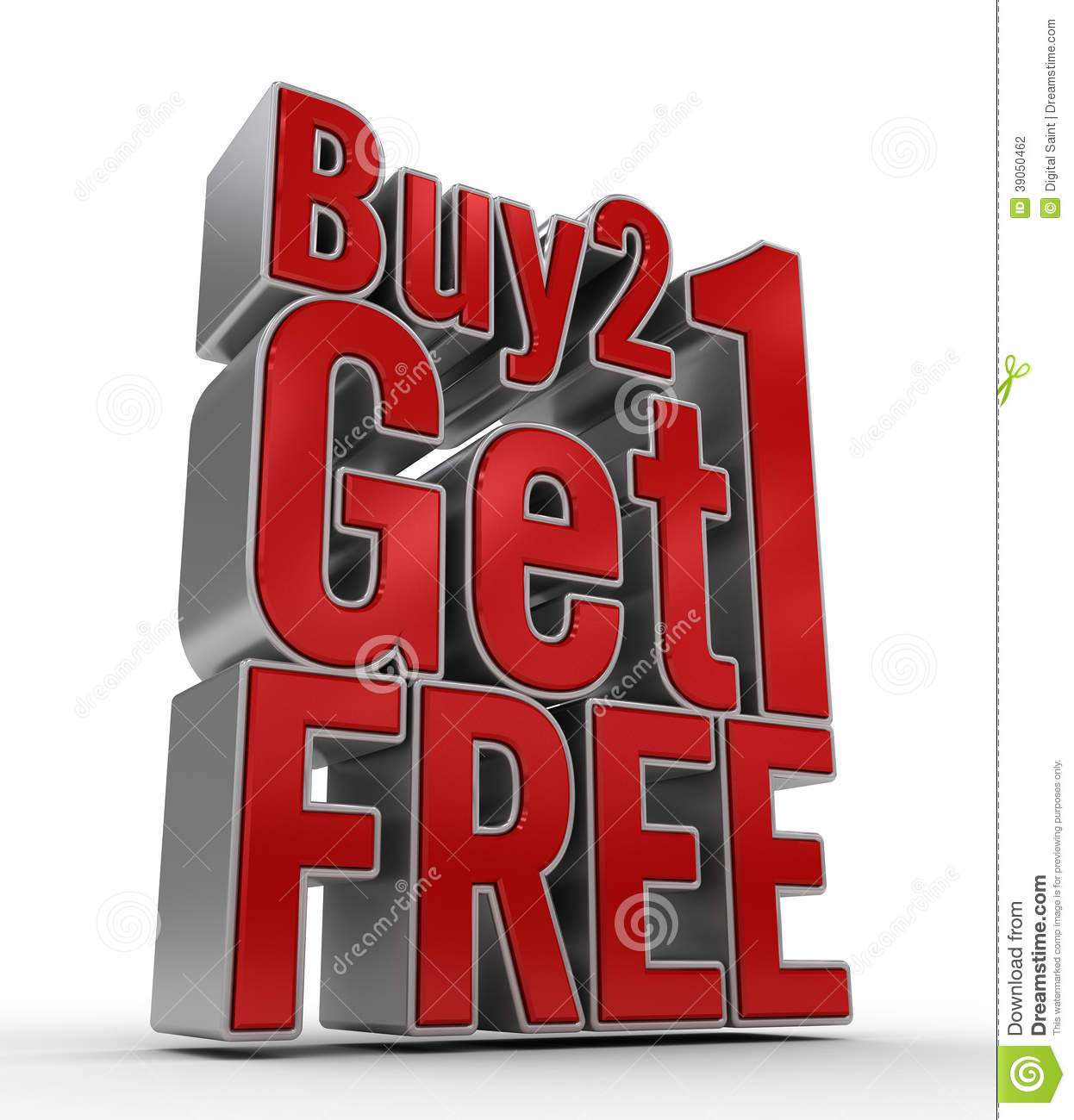 Buy: Buy 2 Get 1 FREE Stock Illustration. Illustration Of Free