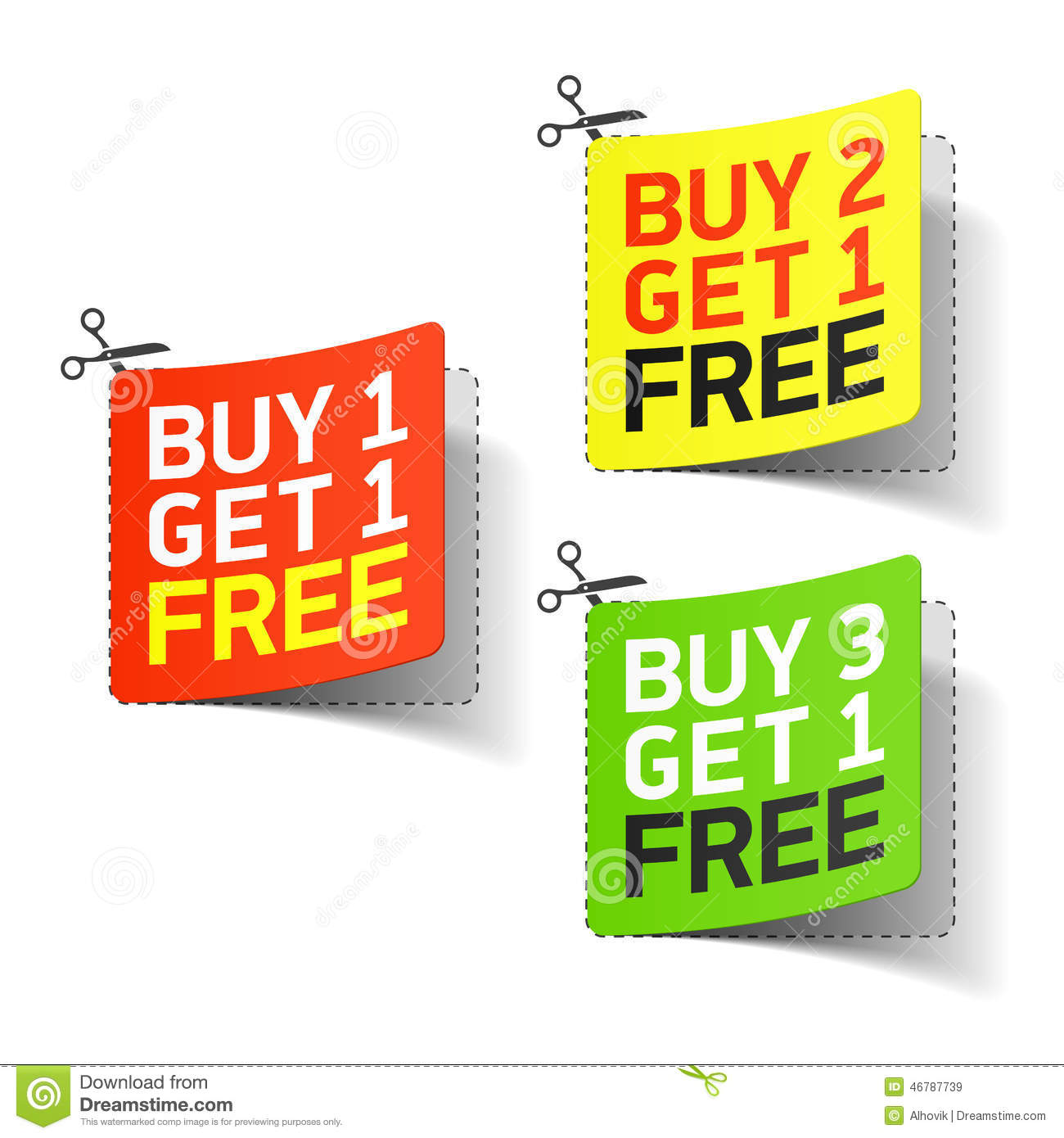 Buy: Buy 1 Get 1 Free Promotional Coupon Stock Vector