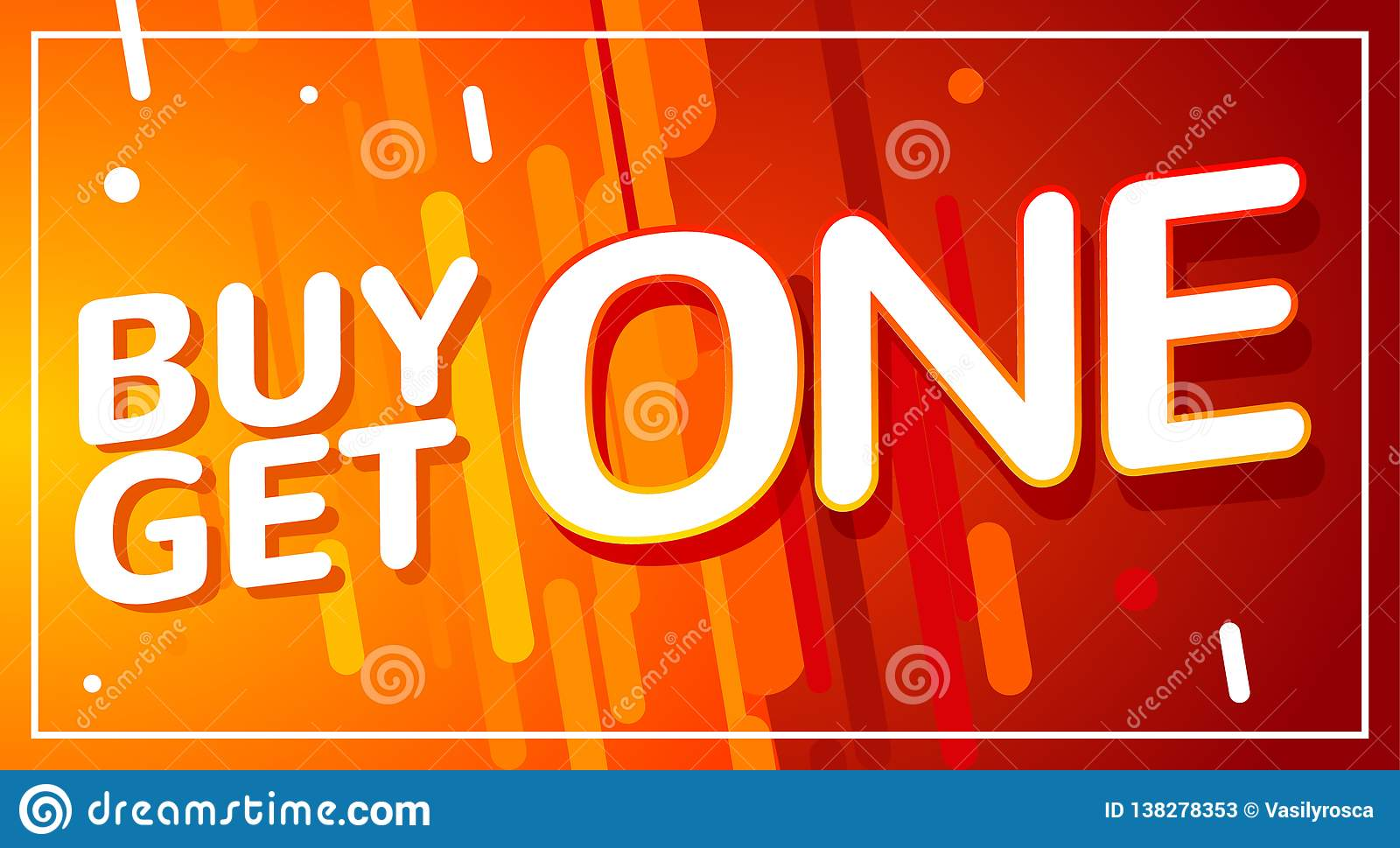 Buy 1 Get 1 Free Sale Poster. Banner Design Template For ...