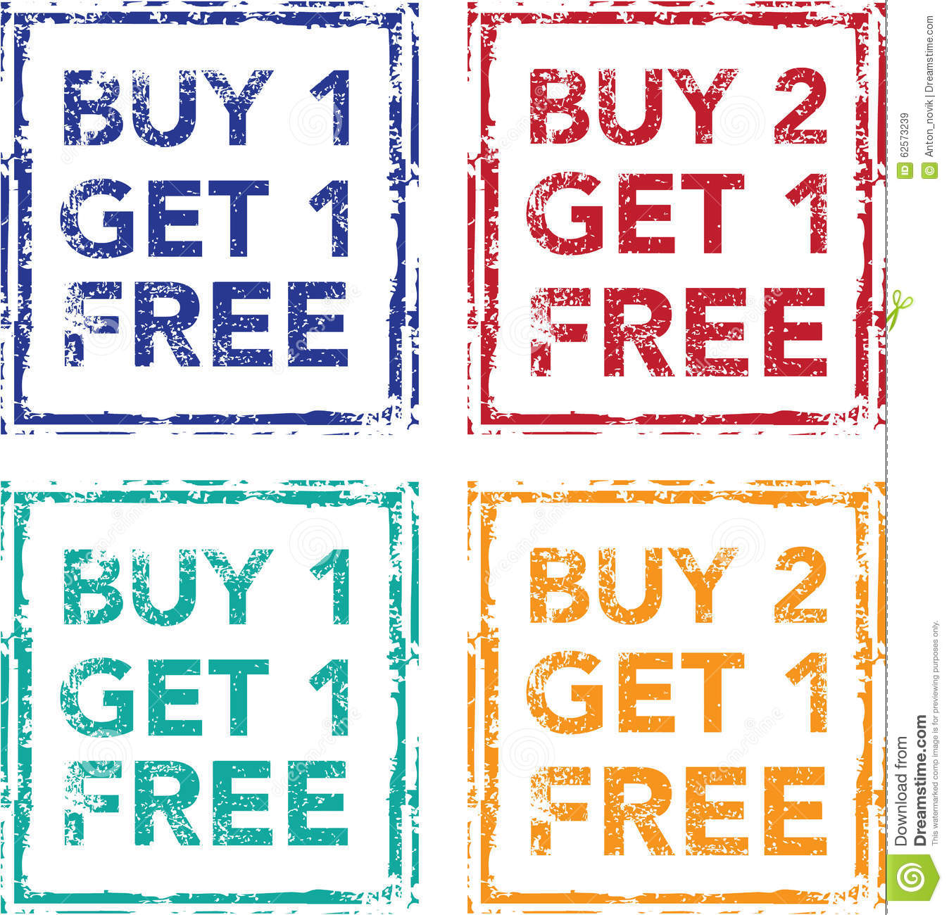 Buy: Buy 1 Get 1 Free Stamp Buy 2 Get 1 Free Vector Stock