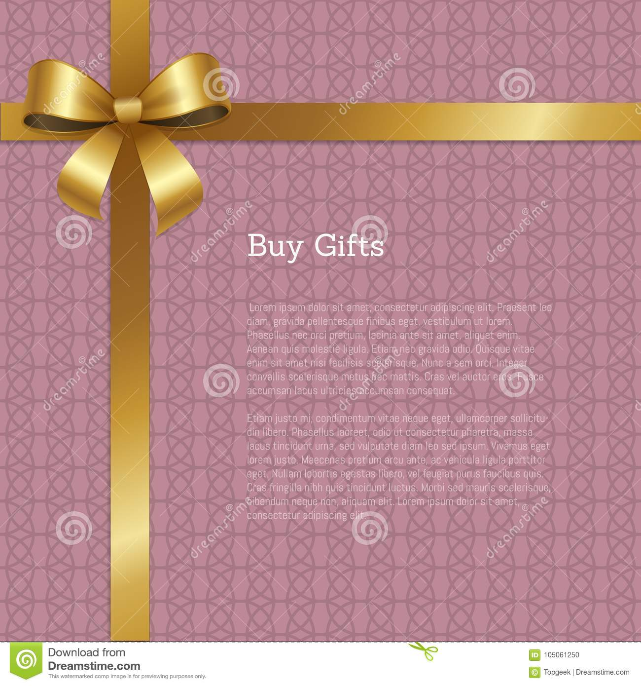 Buy Gifts Certificate Greeting Card Design Vector Stock Vector