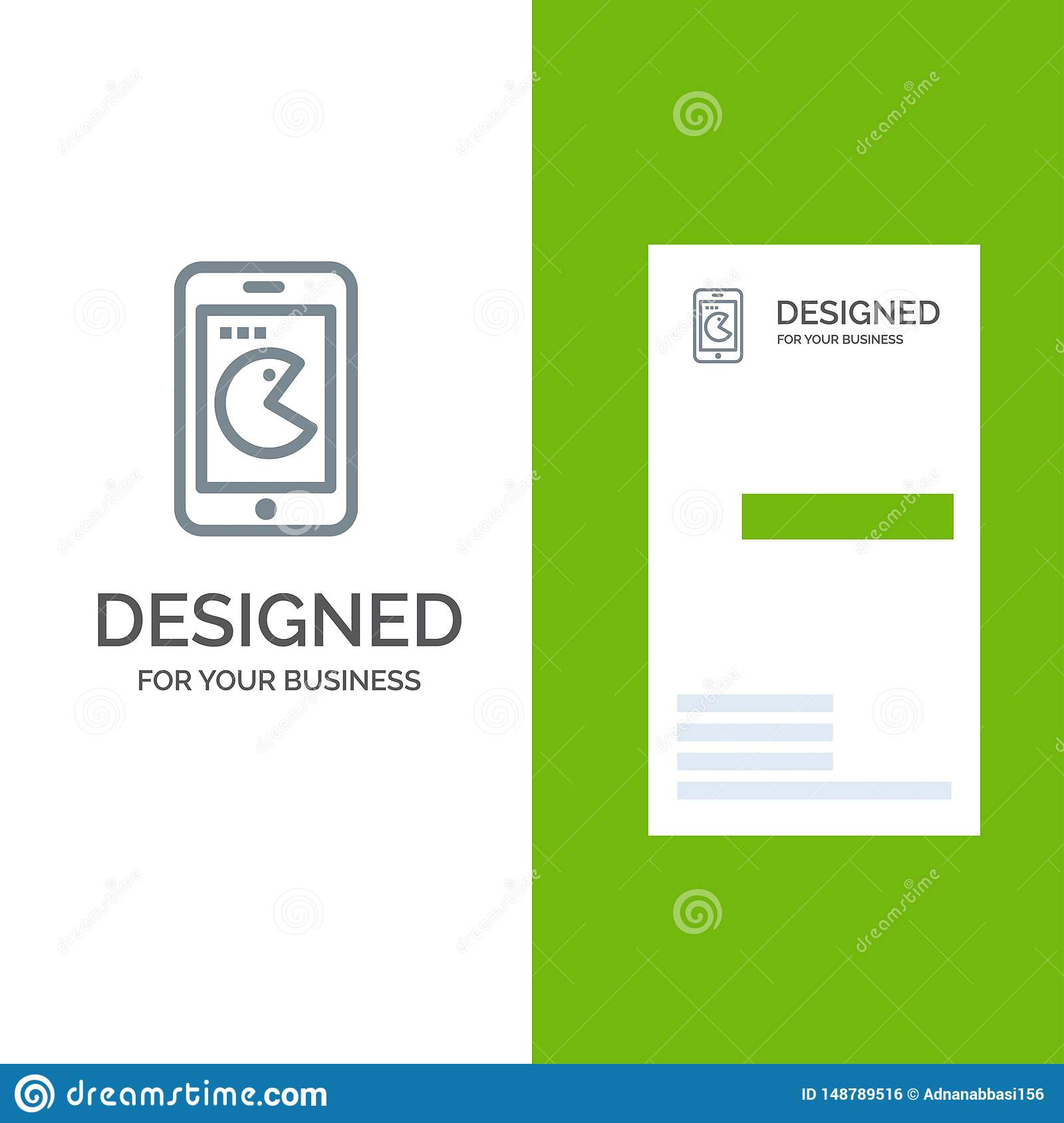 Buy, Mobile, Phone, Hardware Grey Logo Design and Business Card Template