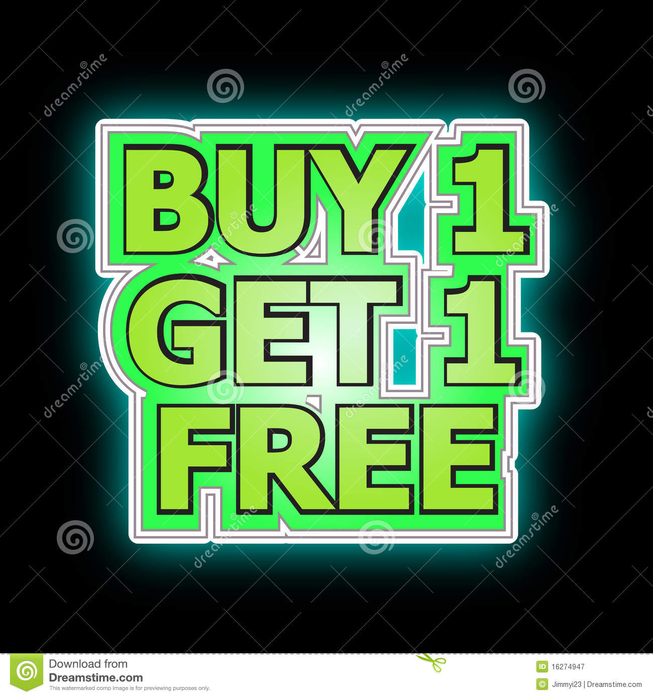 Buy: Buy One Get One Free Royalty Free Stock Photography