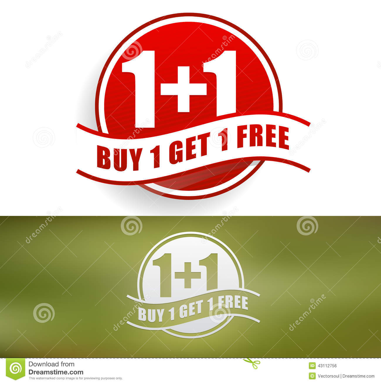 Buy One Get One: Buy One, Get One Free Stock Vector. Illustration Of
