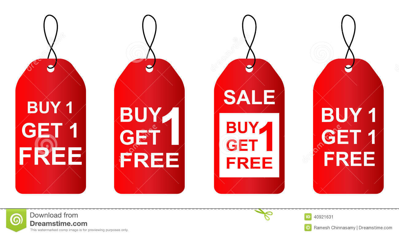 Buy One Get One Free Stock Vector Illustration Of List