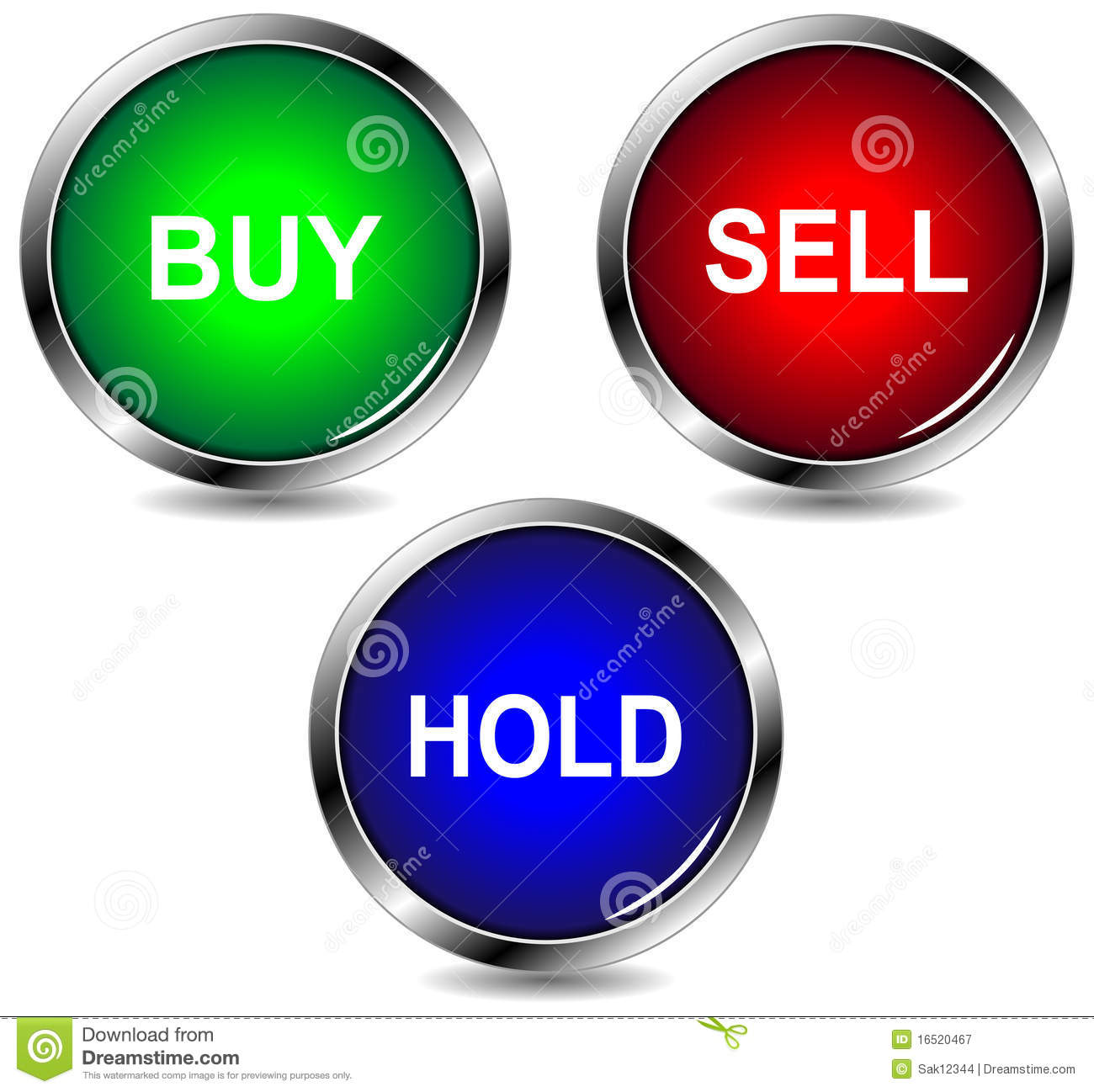 Buy Sell Icon: Buy Sell Hold Icons Stock Vector. Illustration Of Invest