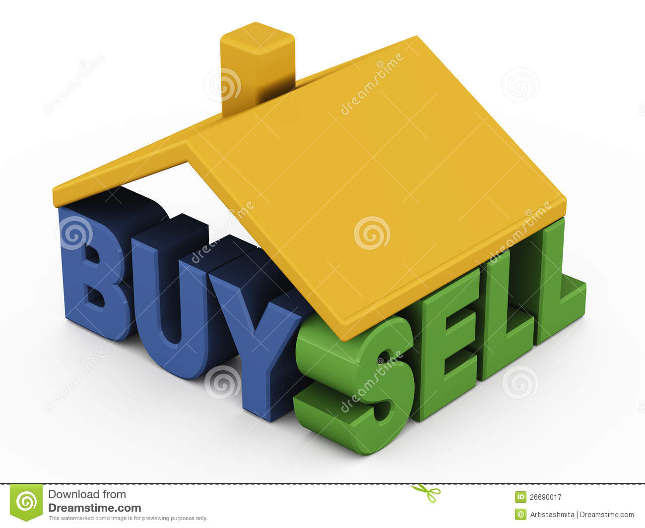 ... property or real estate, with buy and sell text under roof of a house: www.dreamstime.com/royalty-free-stock-photography-buy-sell-home...