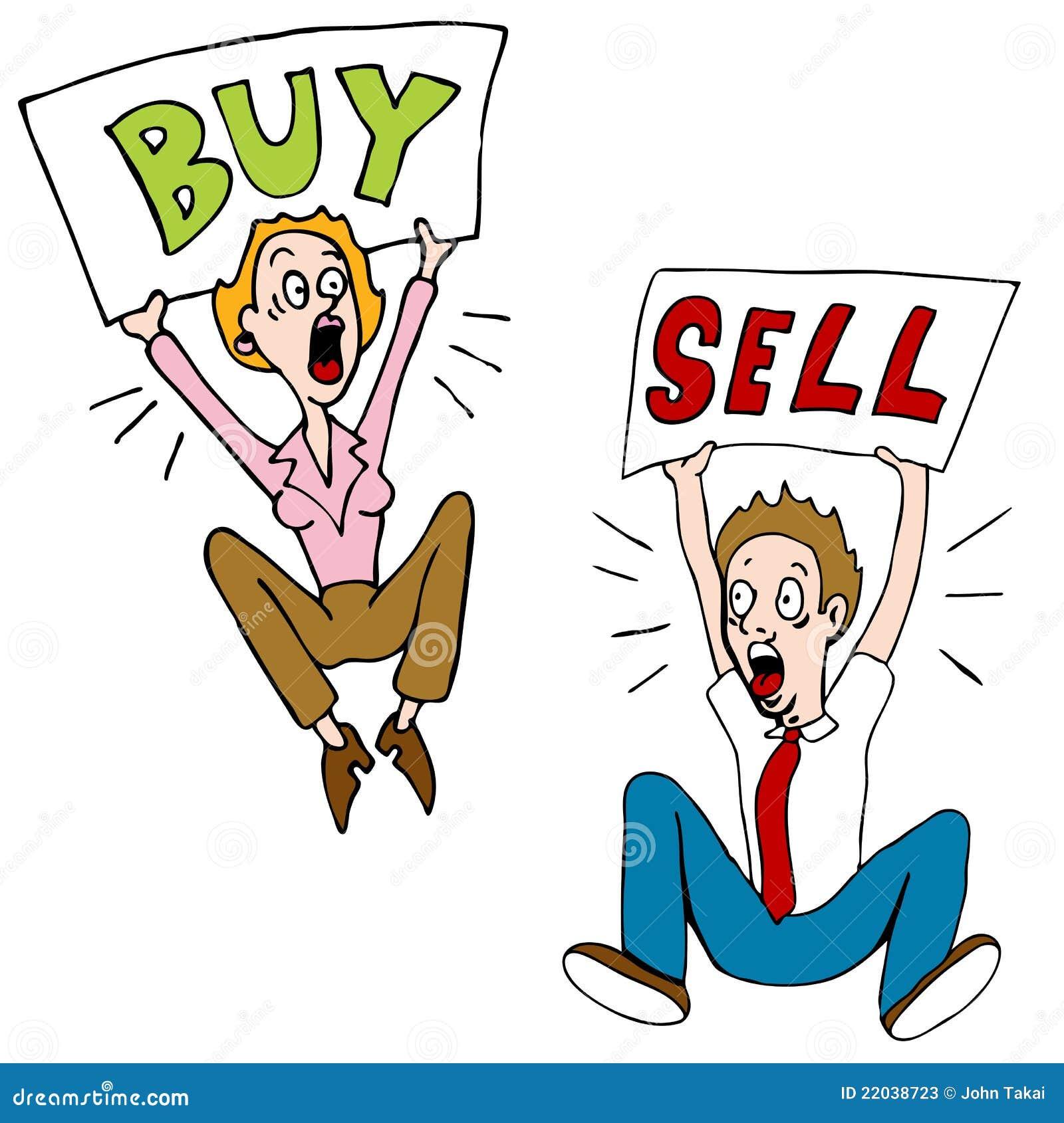 Buy Sell Investors stock vector. Illustration of ...