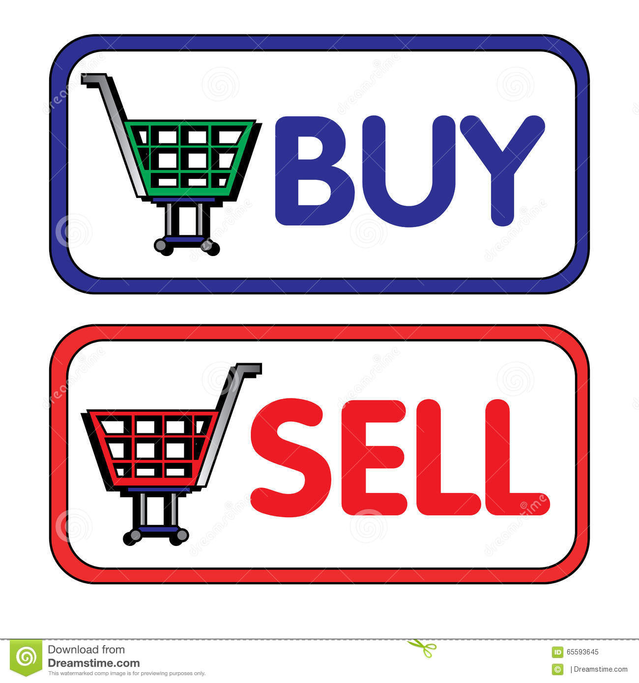 Buy and sell stock illustration image of sell forex for Online retailer for sale