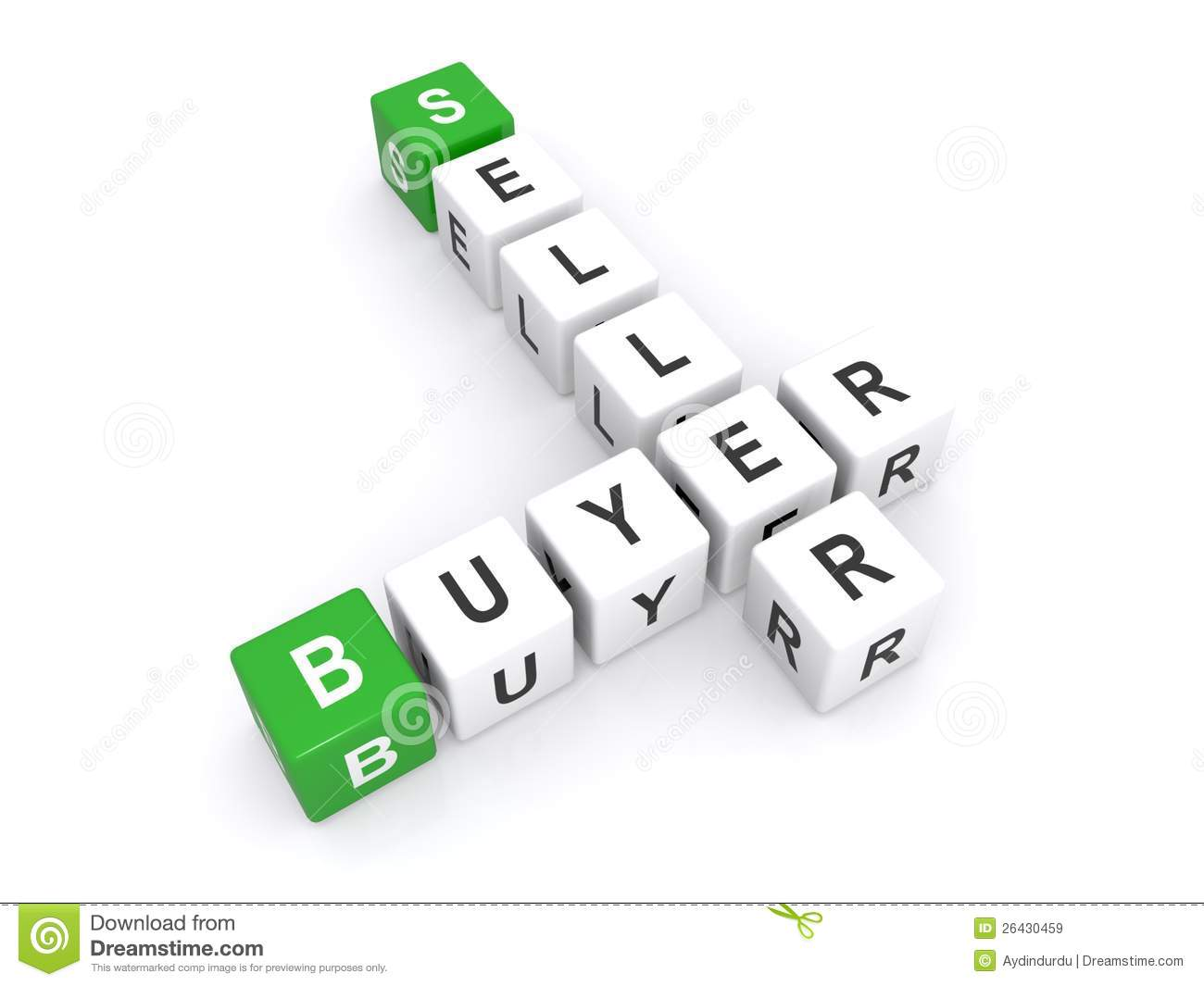 Buyer And Seller Royalty Free Stock Images