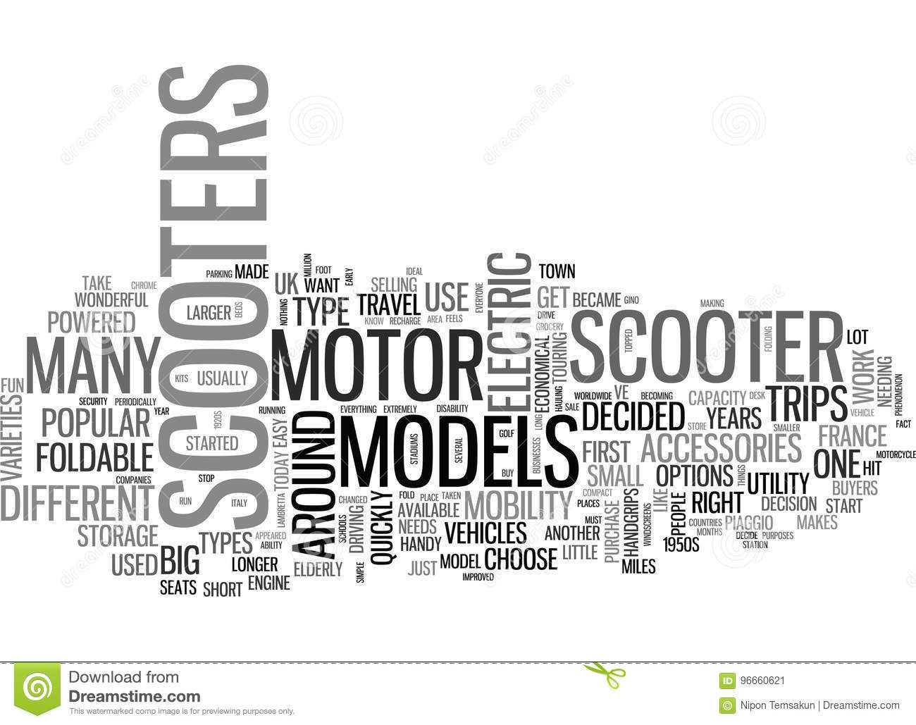 A Buyers Guide To Motor Scooters Word Cloud