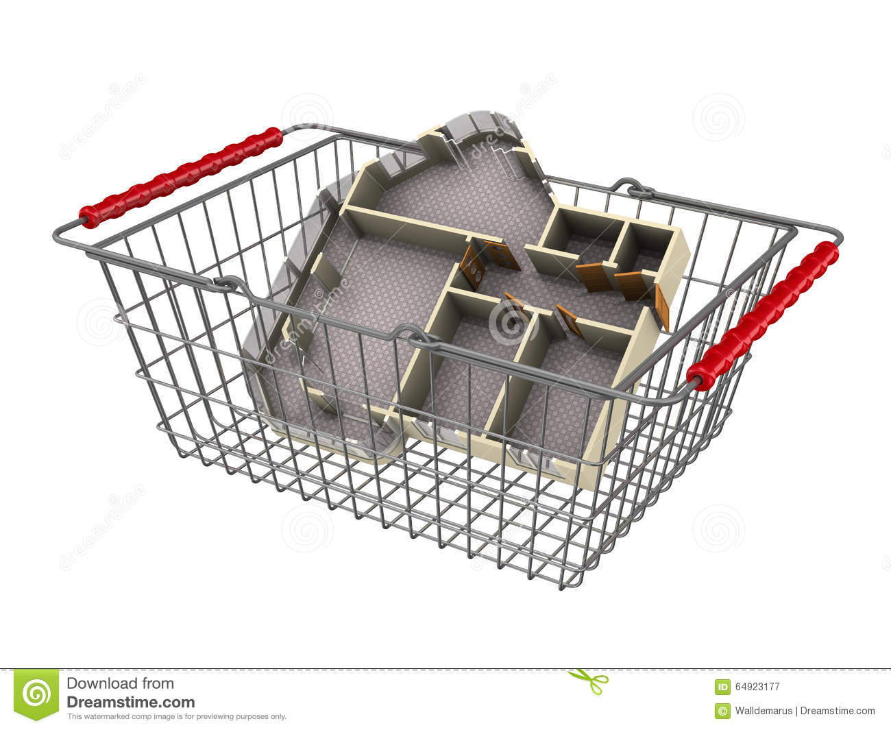 Buying an apartment concept stock illustration image 64923177 - Buying an apartment ...