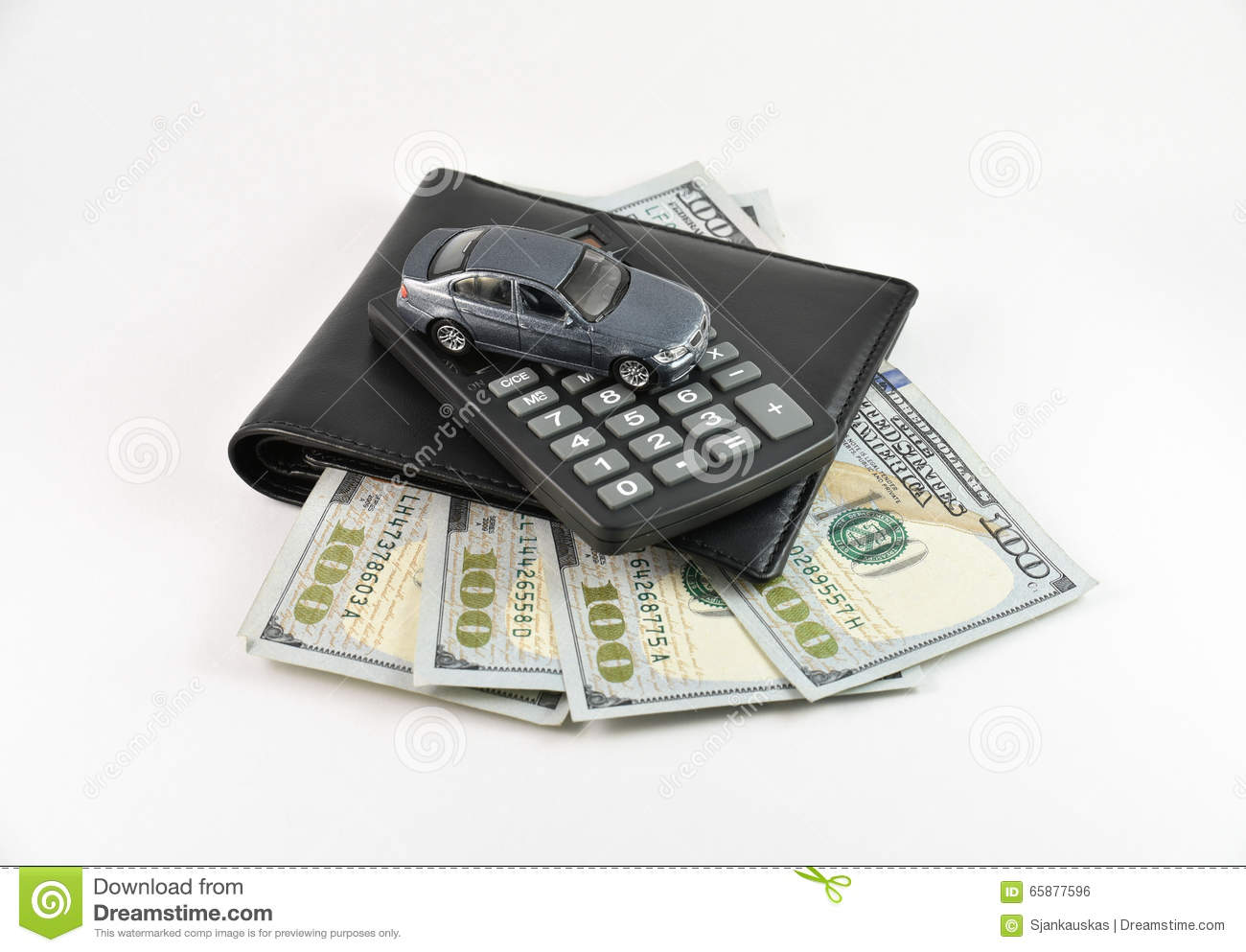Buying a new car concept stock photo Image of calculator 65877596